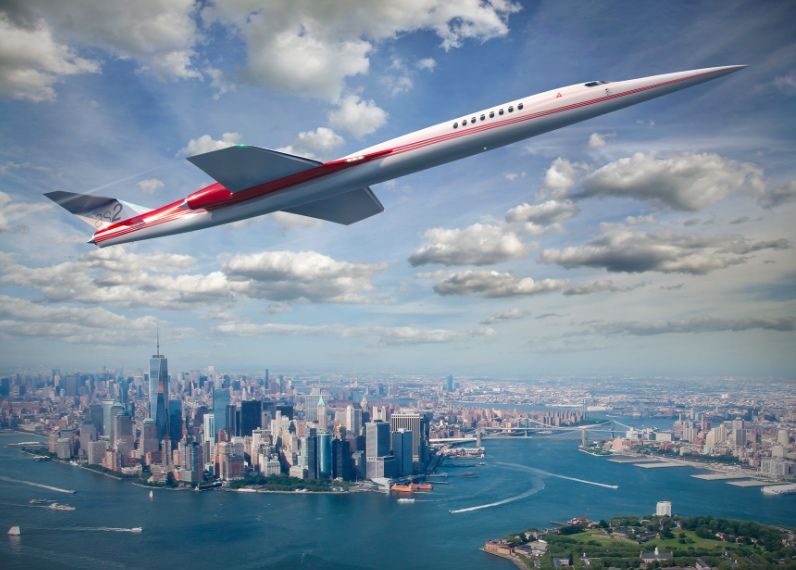 Concept drawing of Aerion's AS2 supersonic passenger jet.