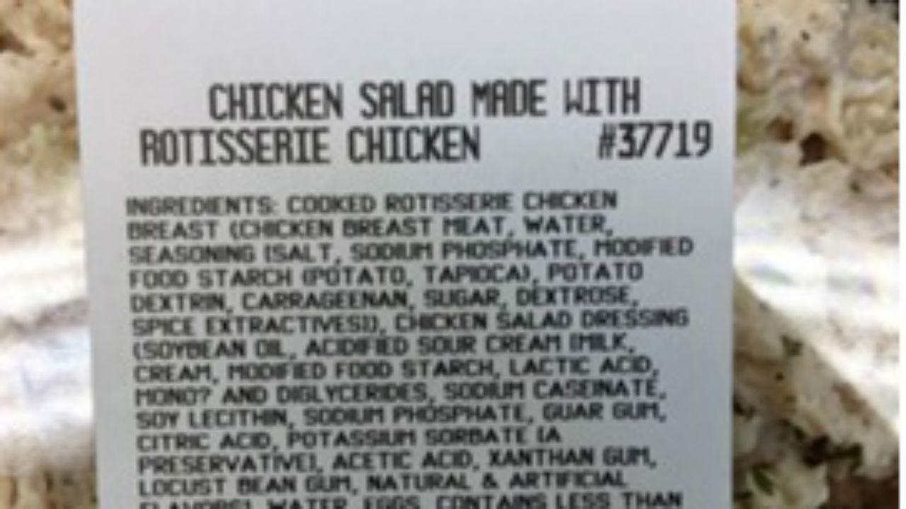 19 people in six states fell ill after eating the rotisserie chicken salad.