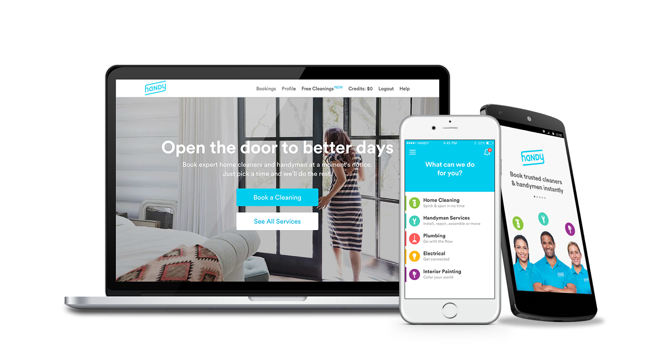 Handy is a three-year-old home cleaning startup.