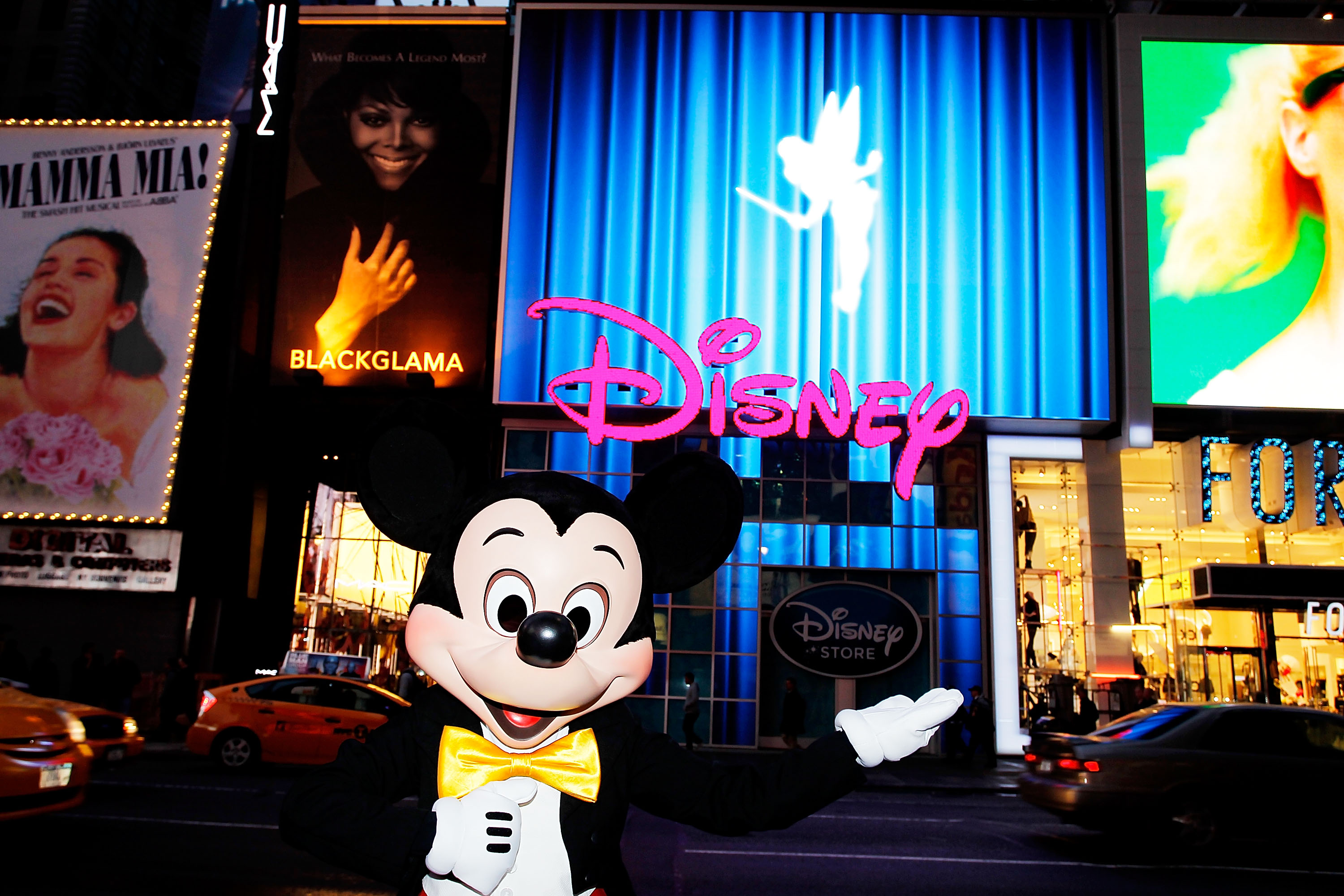 Mickey Mouse Unveils Disney Store's New Digital Billboard In Times Square