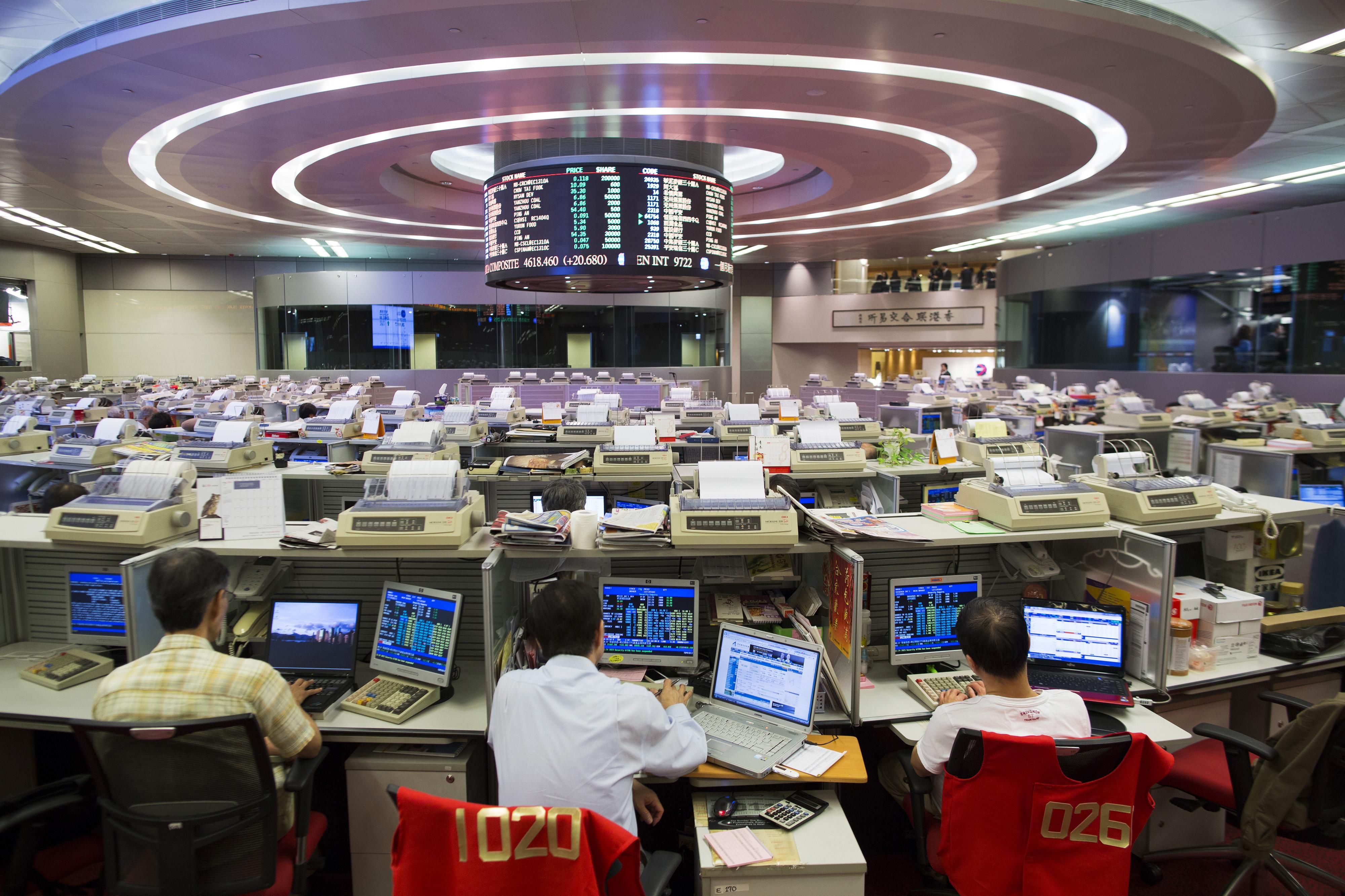 Inside the Hong Kong Stock Exchange