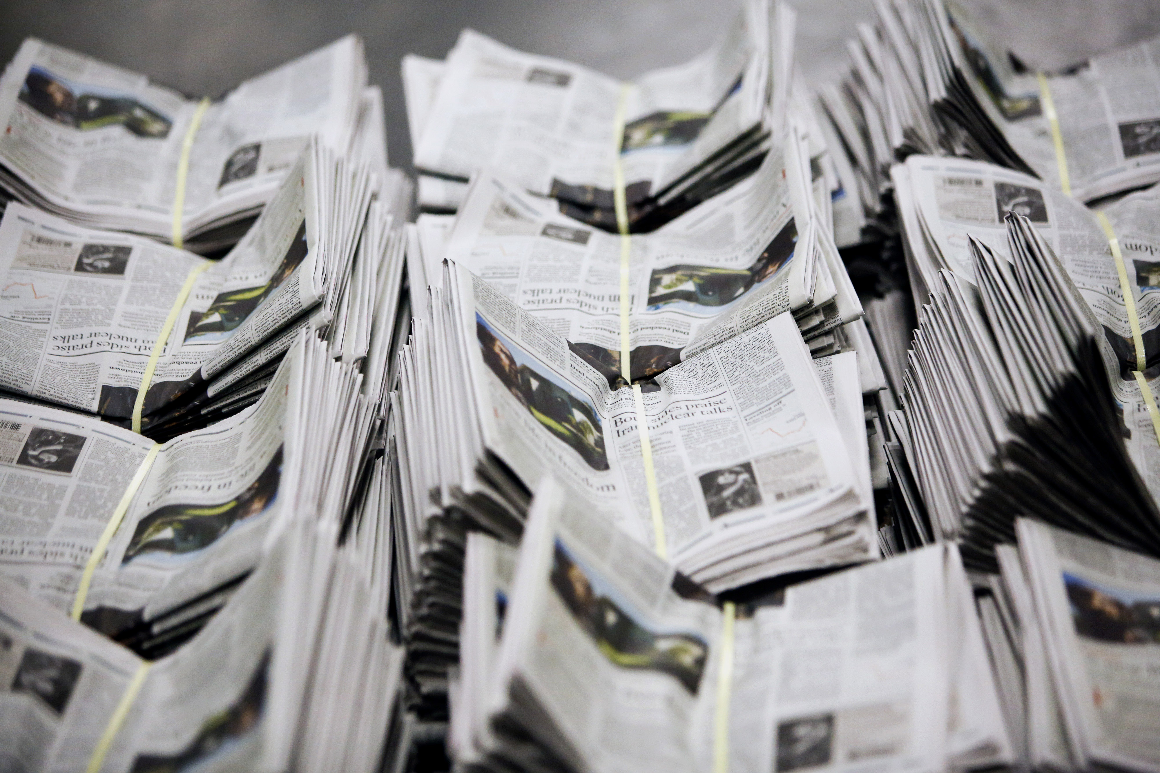 Printing Of The Los Angeles Times As Government Shutdown Ends