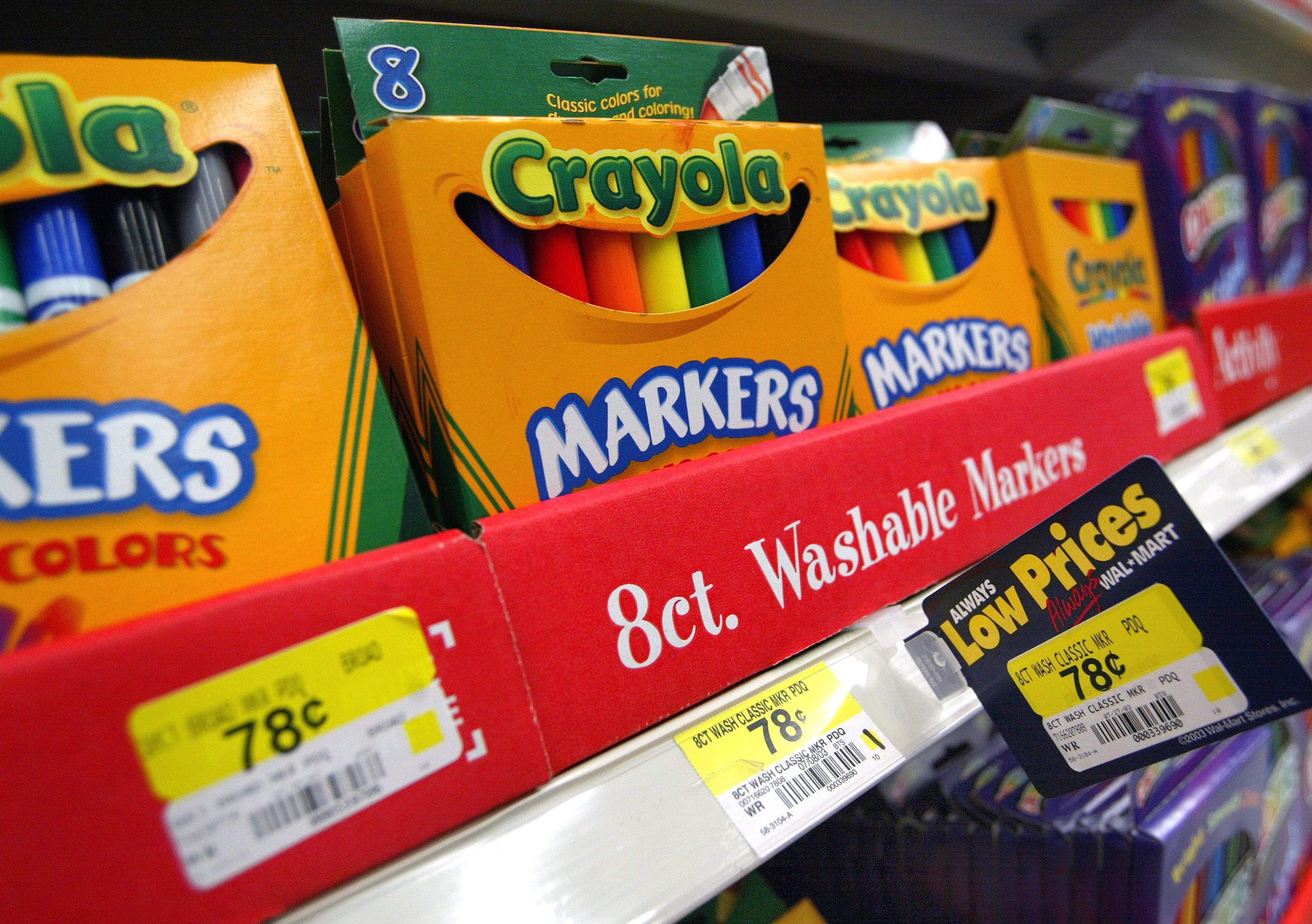 Consumers Start Buying Back-To-School Supplies At Wal-Mart