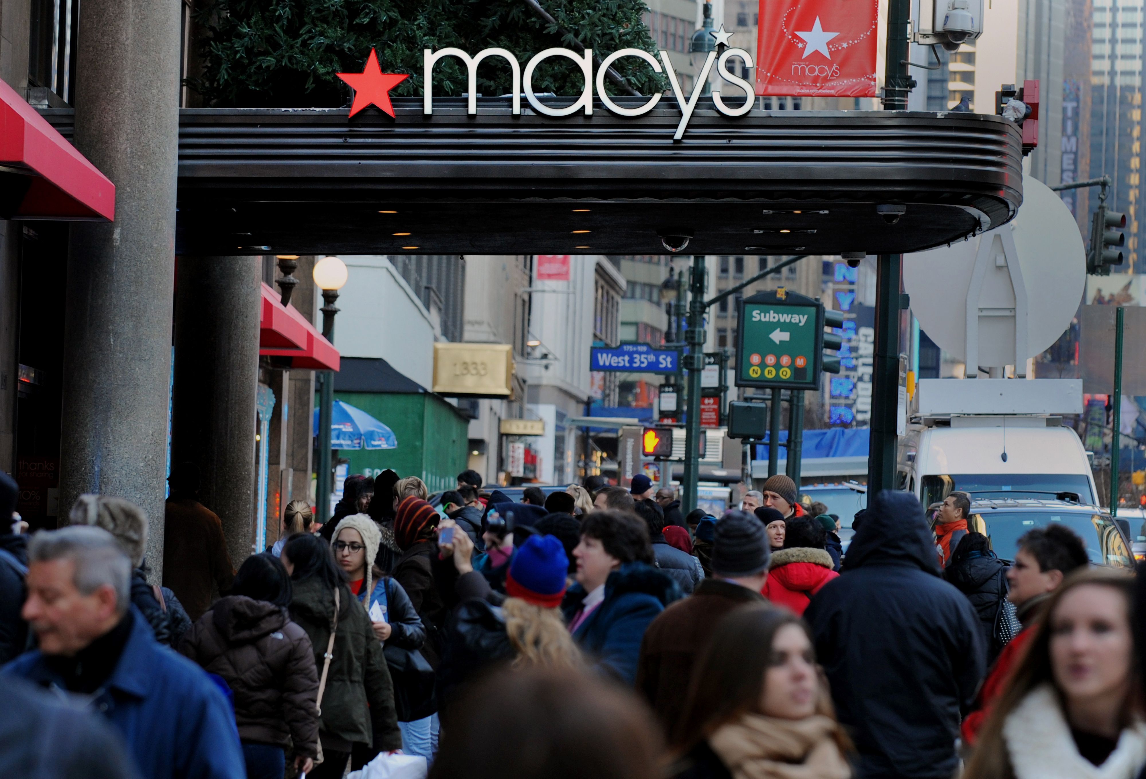 Shoppers At Macy's Flagship Store