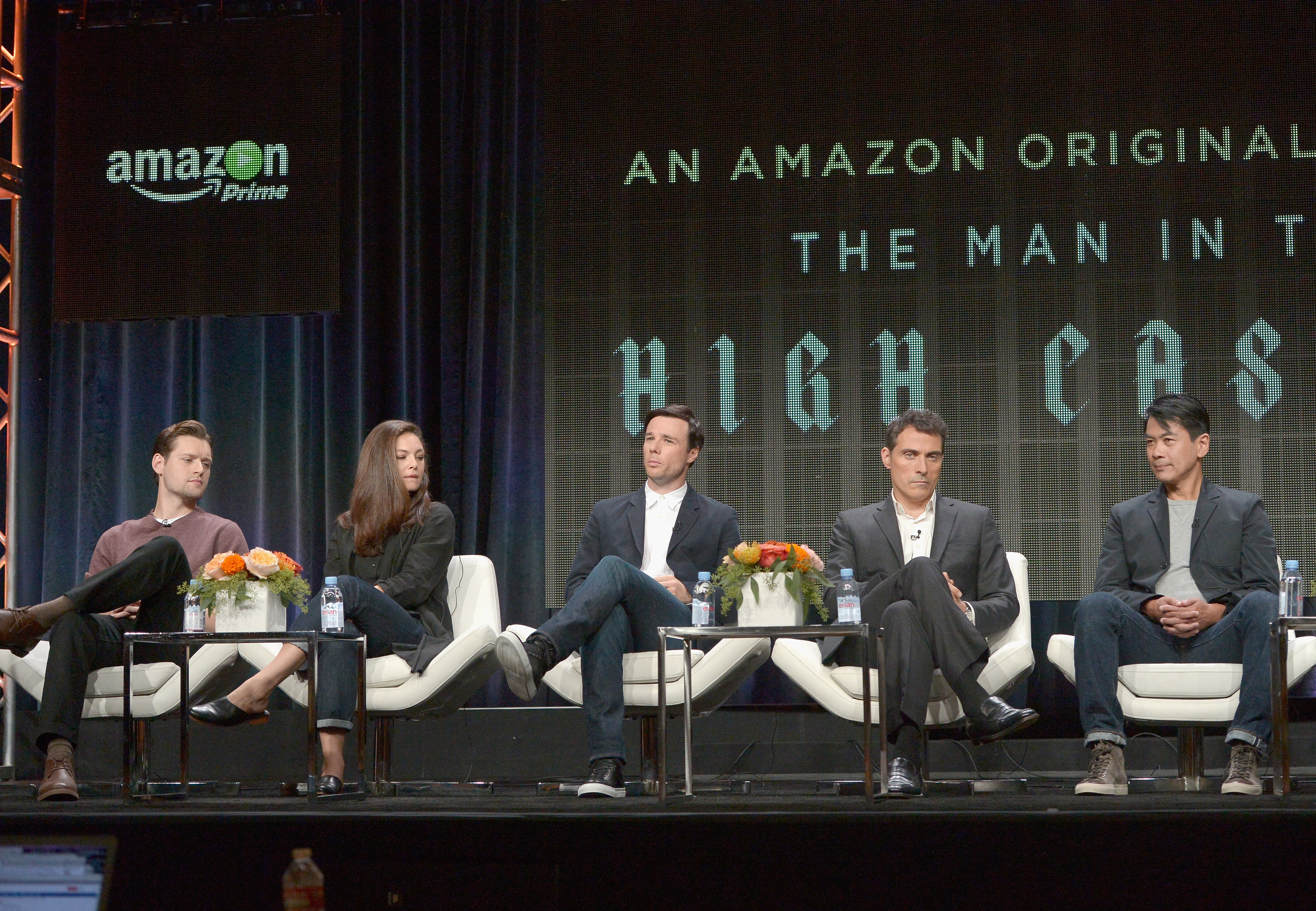 speaks onstage during the 'Hand Of God' panel discussion at the Amazon Studios portion of the 2015 Summer TCA Tour on August 3, 2015 in Beverly Hills, California.