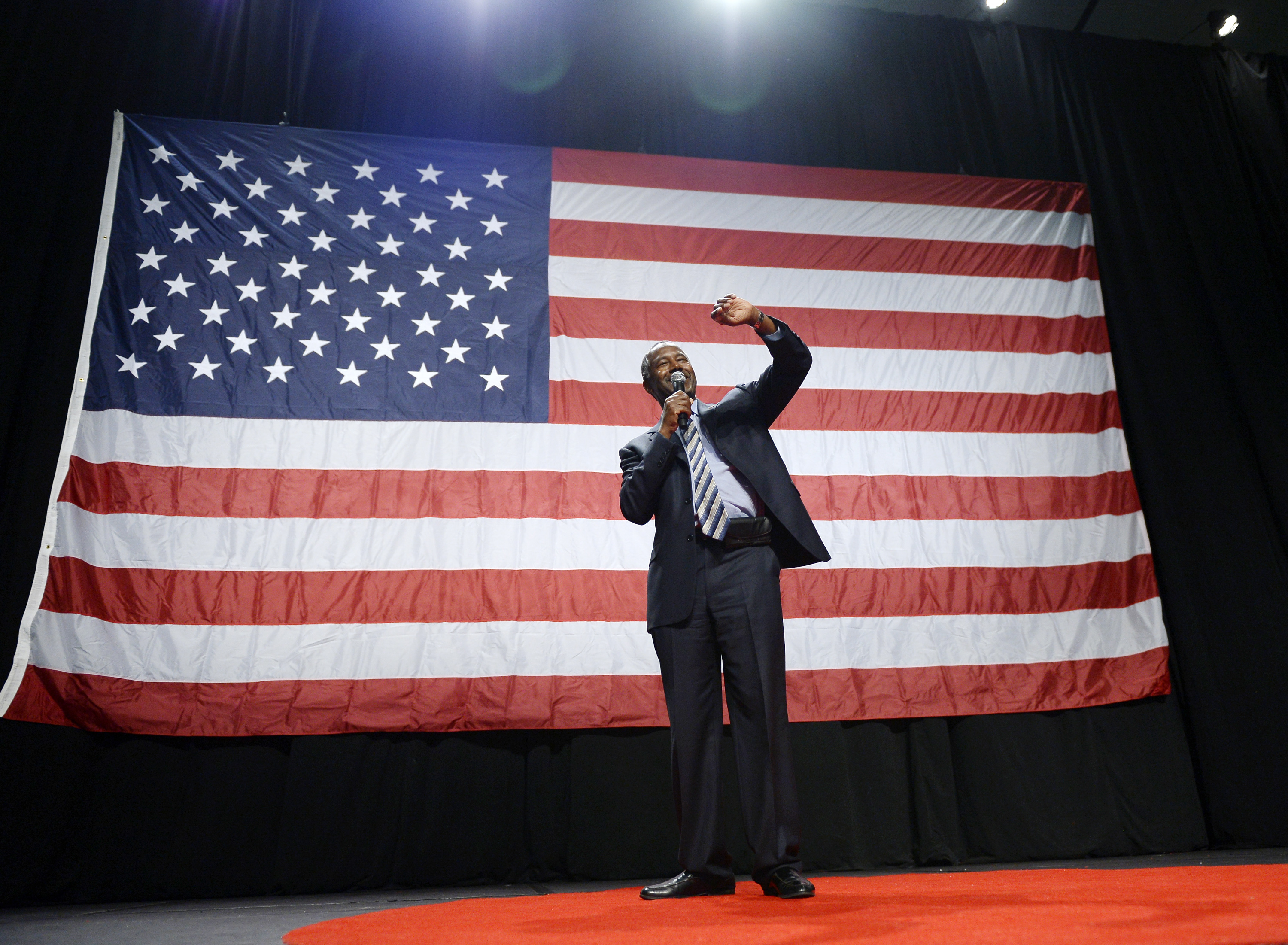 Ben Carson Holds Campaign Rally In Anaheim