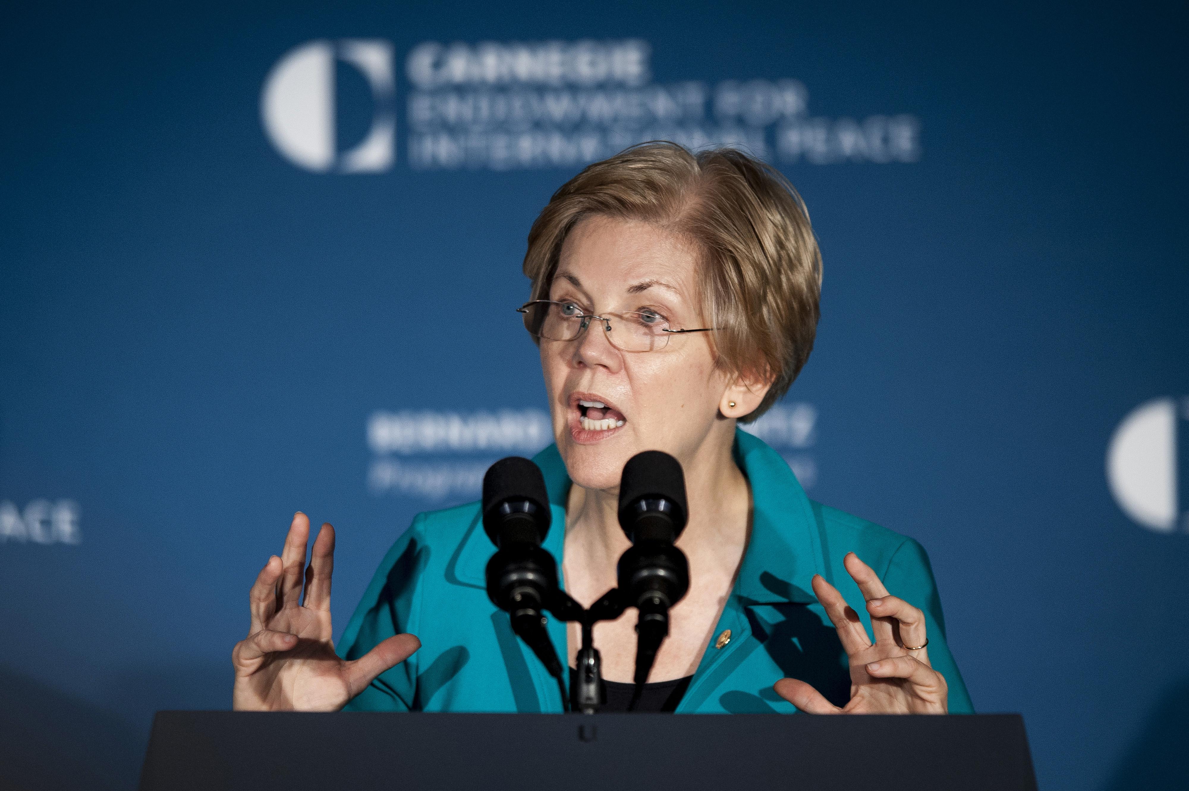 U.S. Vice President Joe Biden And Senator Elizabeth Warren Address The American Job Creation And Infrastructure Forum