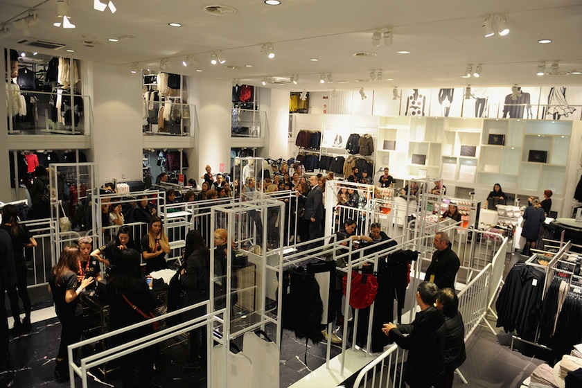 Customers empty an H&M store in Florence, Italy during its Balmain For H&M Collection launch.