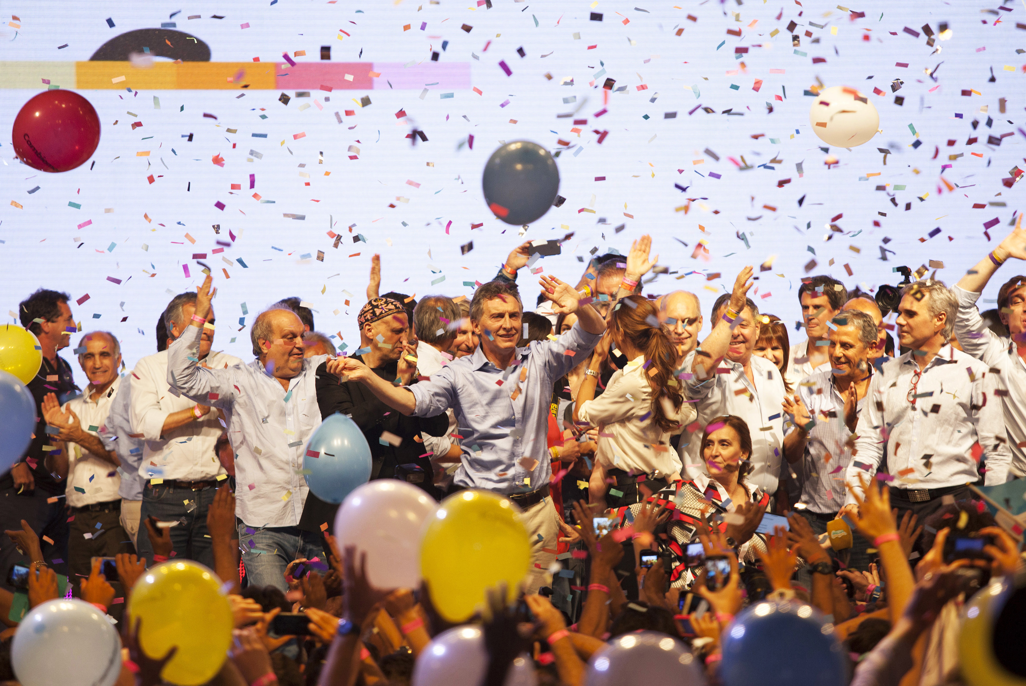 Inside Presidential Candidate Mauricio Macri Campaign Headquarters On Election Night
