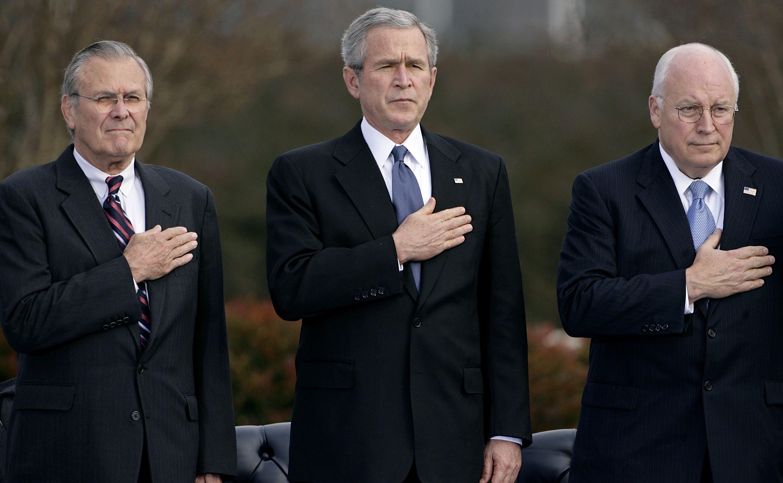 Pentagon Holds Departure Ceremony For Rumsfeld