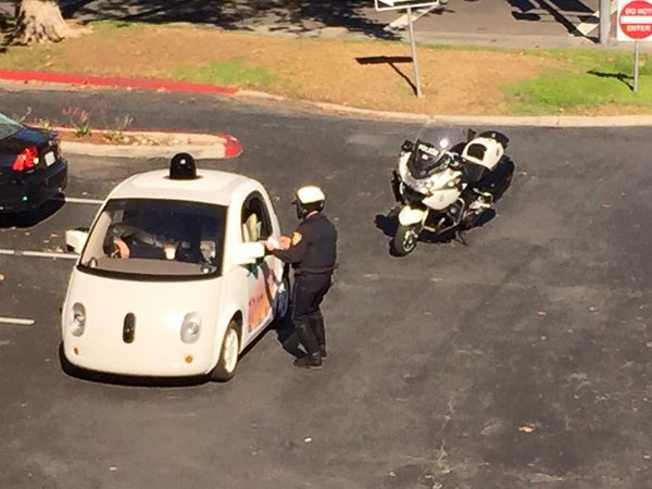 google and police officer