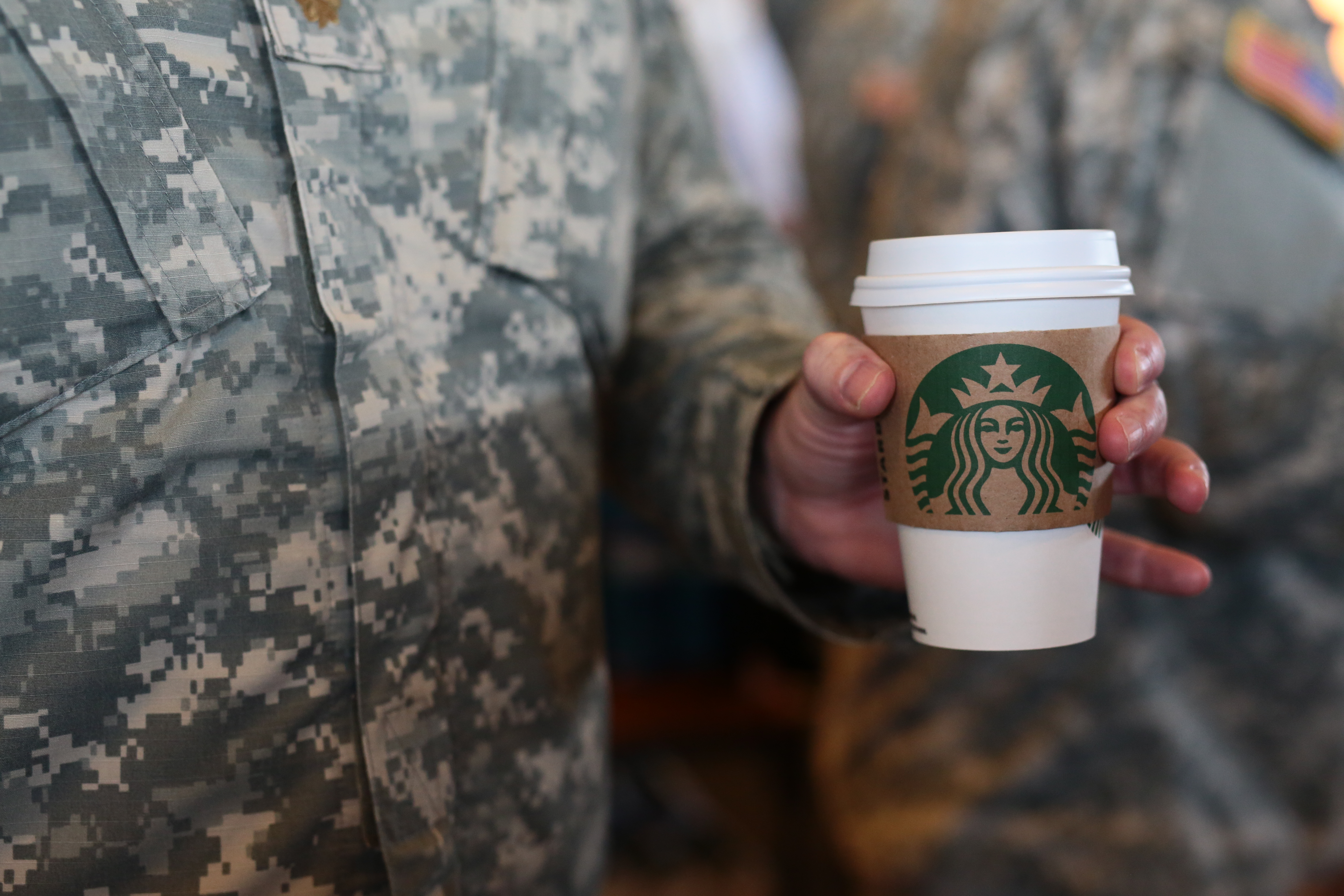 Veterans can also get free coffee on Wednesday.