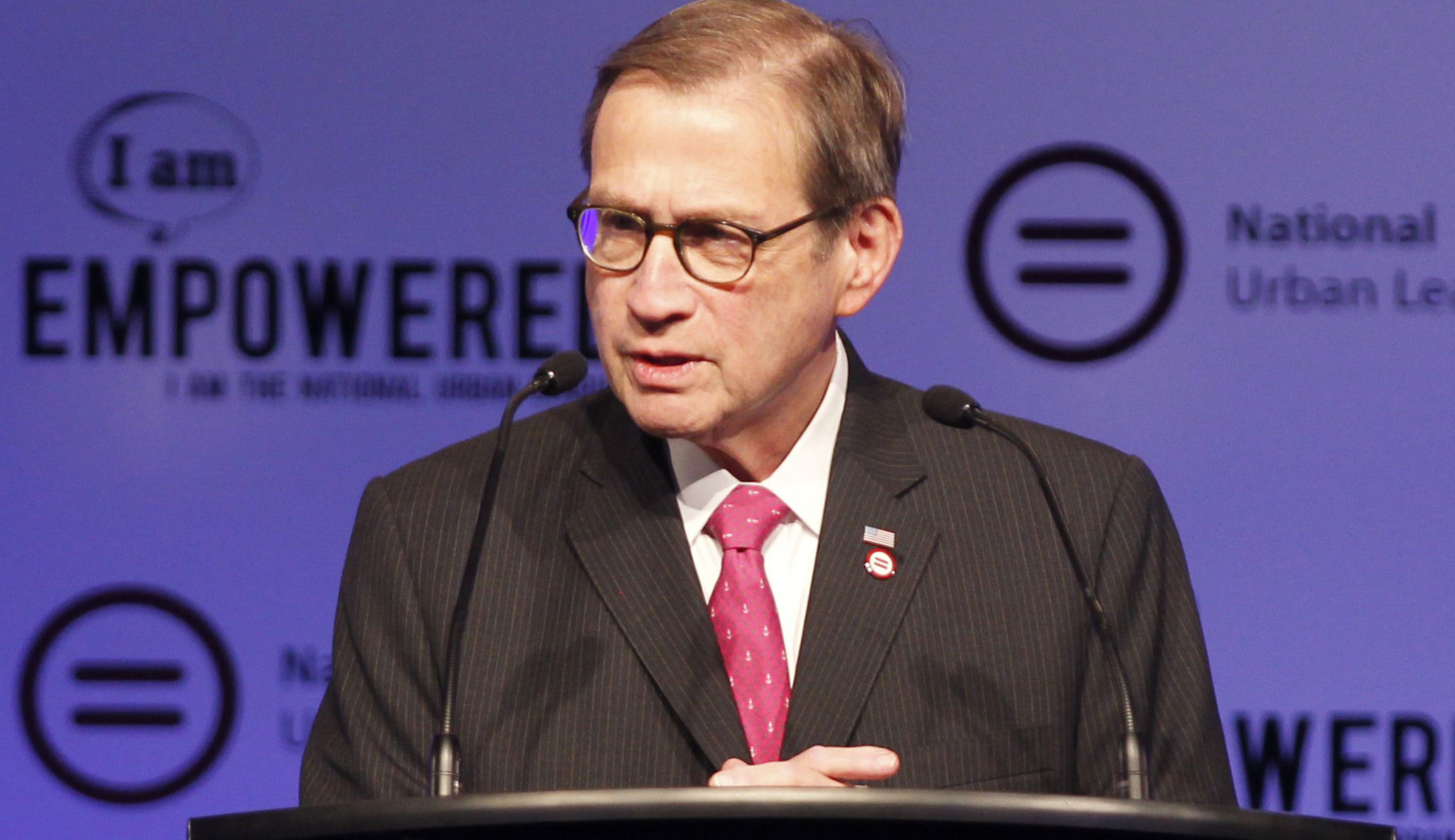 Centene Corporation chairman, president and CEO and National Urban League chair Michael Neidorff speaks at the National Urban League's conference in Fort Lauderdale