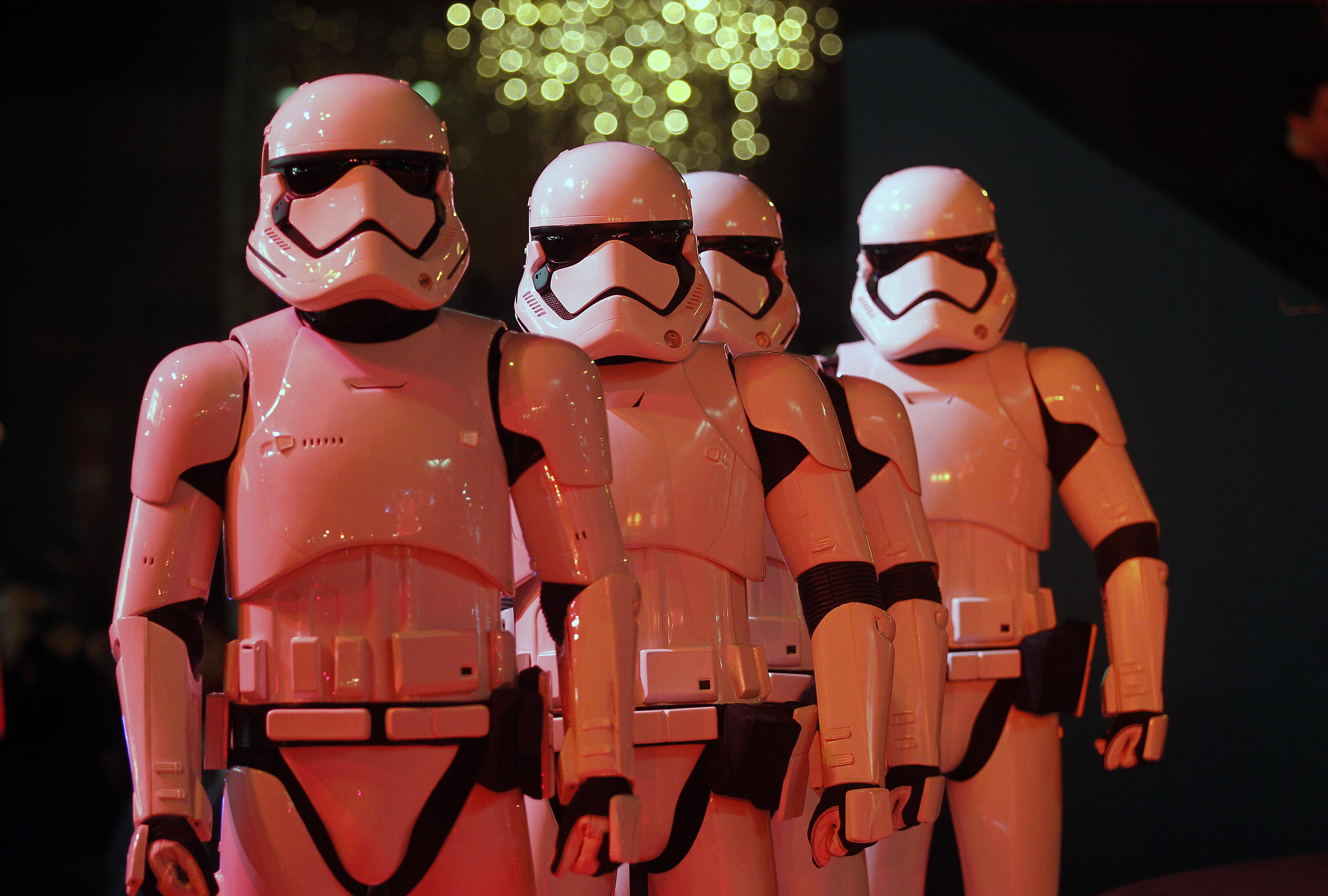 """Star Wars X Galeries Lafayette"" : Galeries Lafayette Christmas Decorations Inauguration In Paris"
