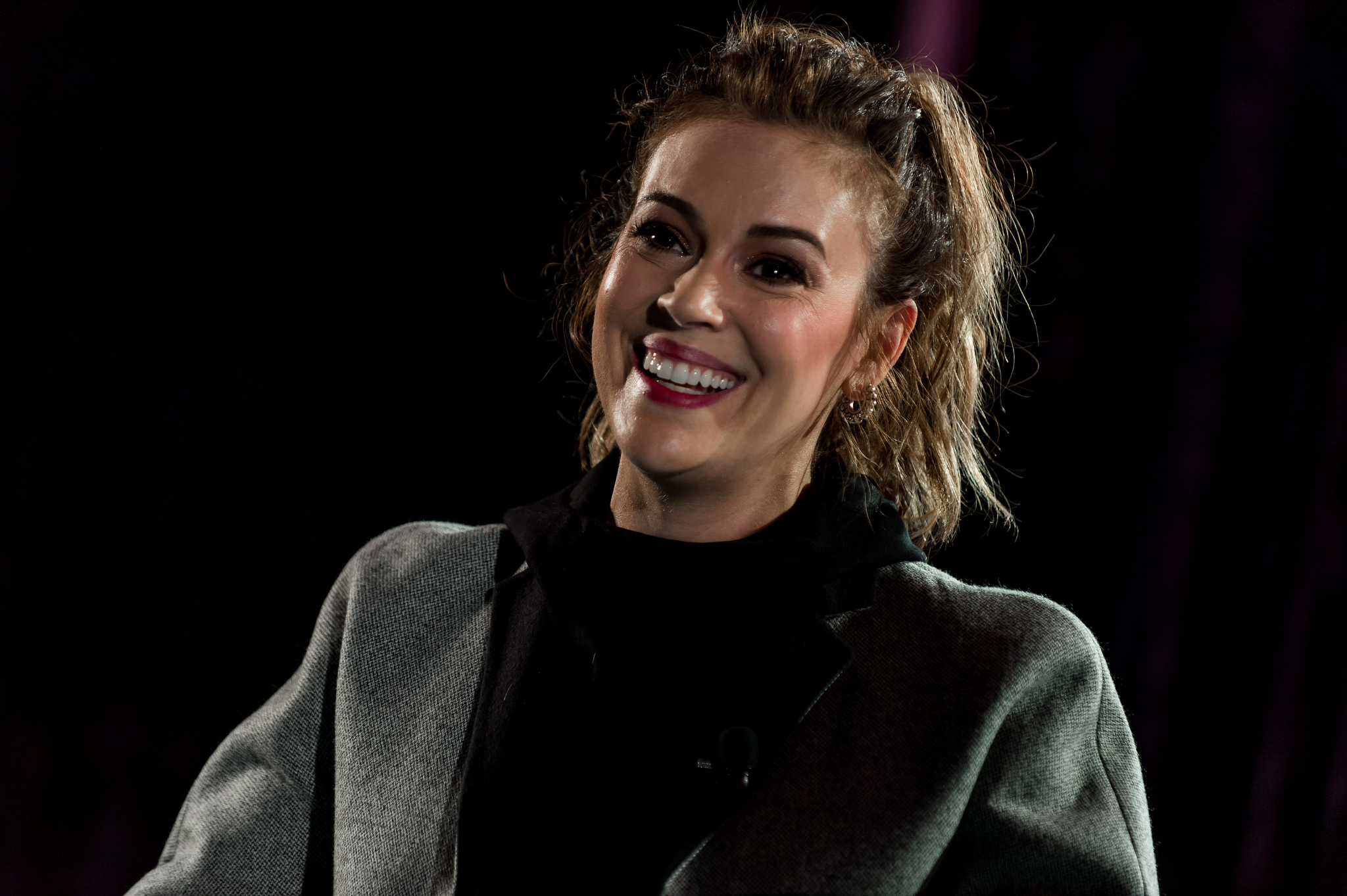 Alyssa Milano, actress, entrepreneur and philanthropist at the Fortune Most Powerful Women Next Generation Summit in San Francisco, December 1st