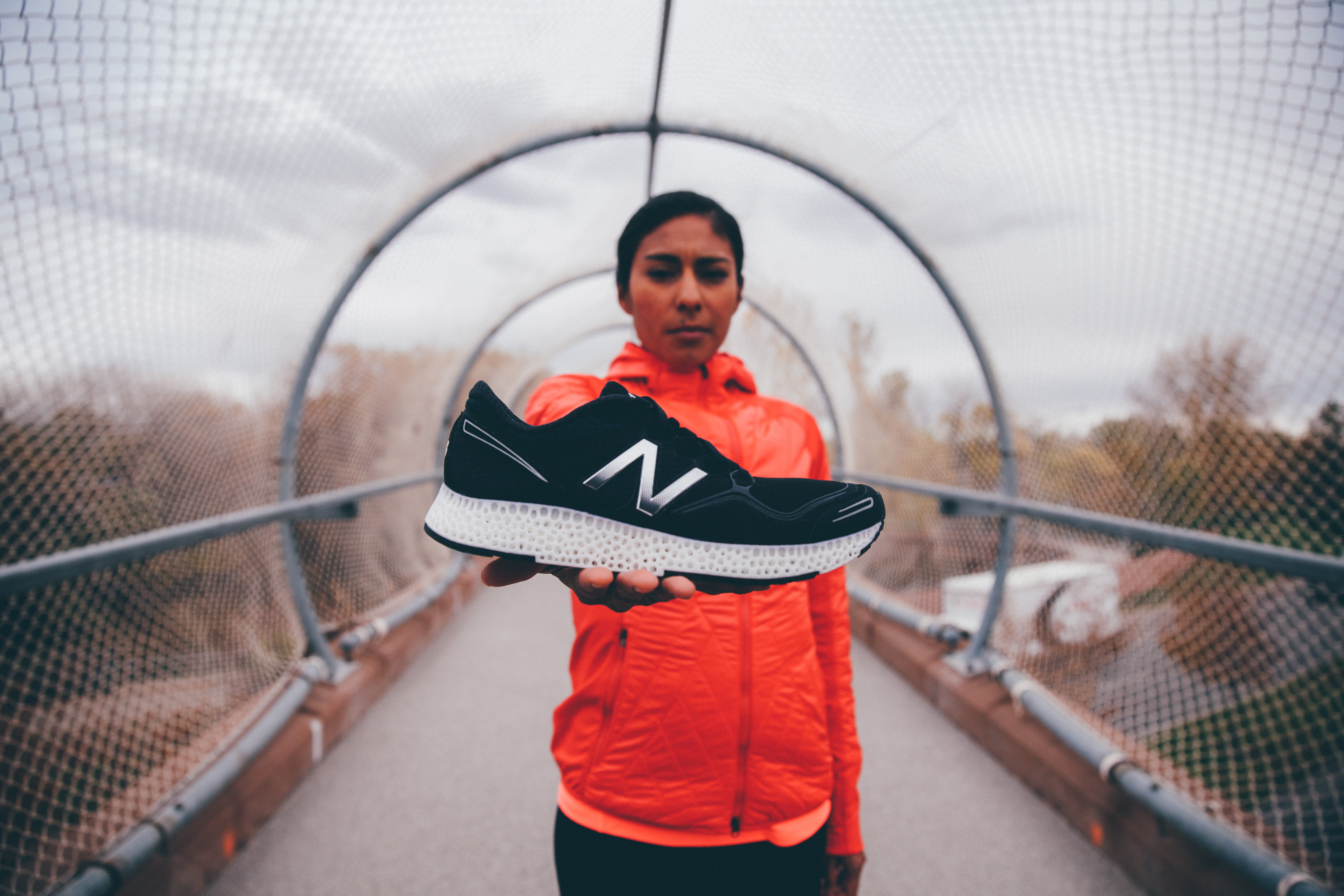 New Balance's running shoe with a 3D-printed midsole will be at the 2016 Consumer Electronics Show.