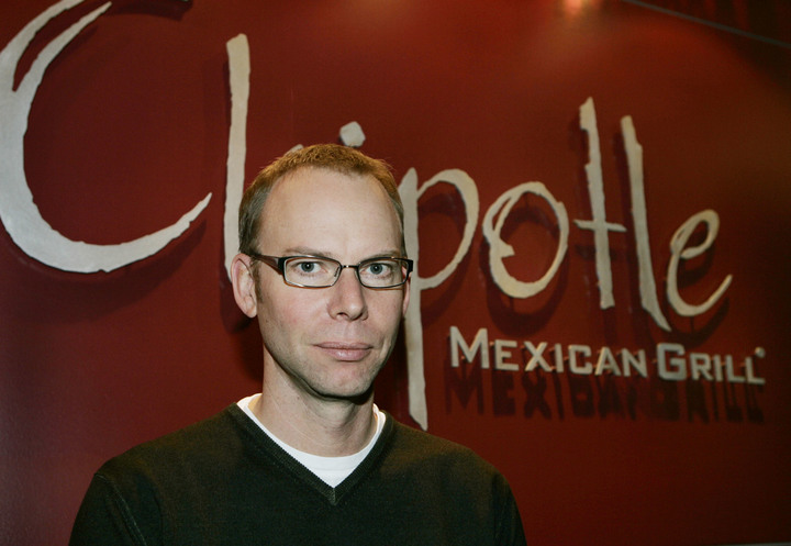Chipotle Mexican Grill founder and CEO Steve Ells speaks during an interview with the Associated Press in a Chipotle restaurant on Tuesday Dec. 15, 2015, in Seattle.