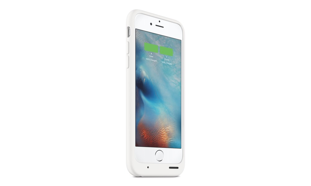 Apple's iPhone Smart Battery Case in white.
