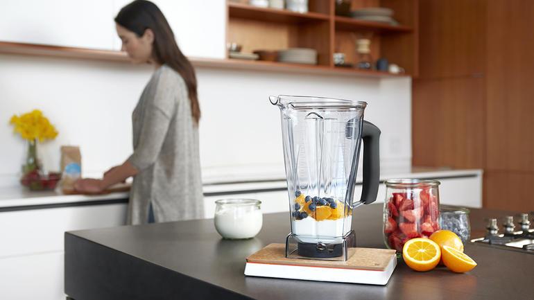The Orange Chef's Countertop pad and Vitamix.