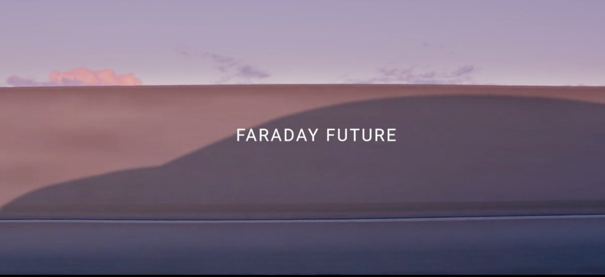 Screenshot from the Faraday Future video.
