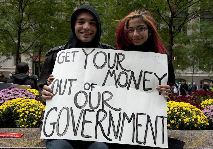 Participants in the Occupy Wall Street p