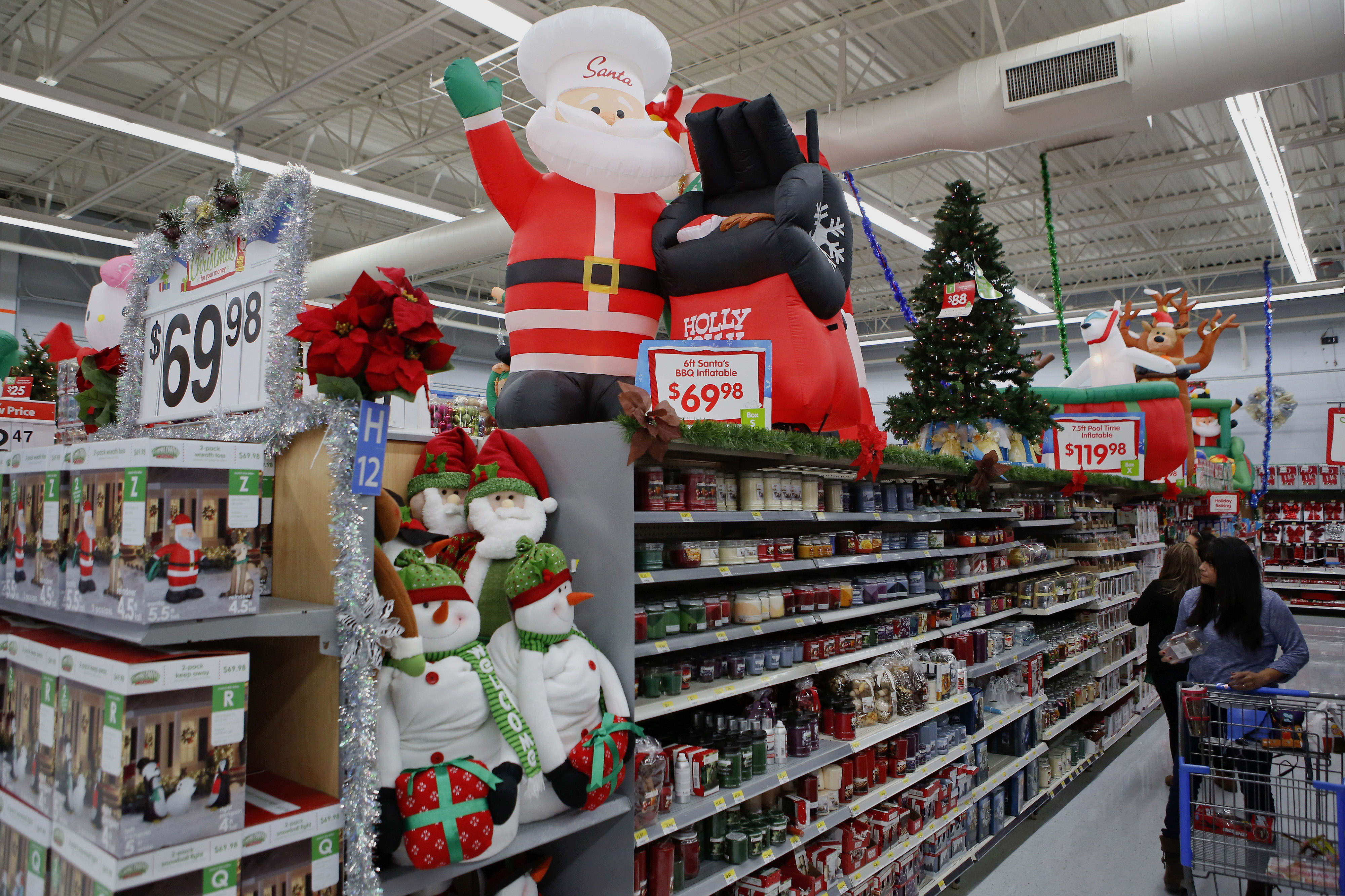 Inside A Wal-Mart Super Store Ahead Of Black Friday