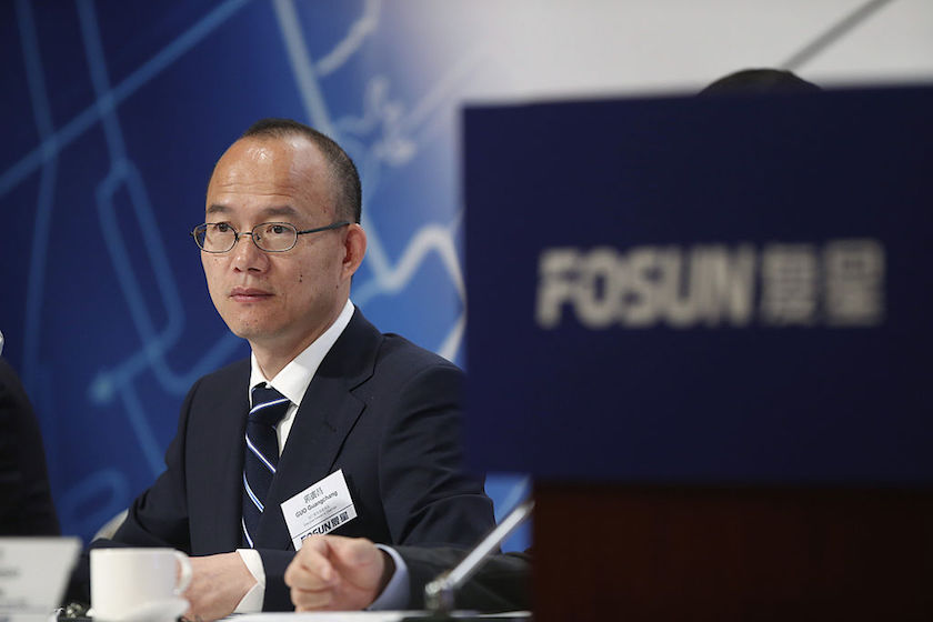 Fosun International Ltd. Chairman And Billionaire Guo Guangchang Attends Interim Results News Conference
