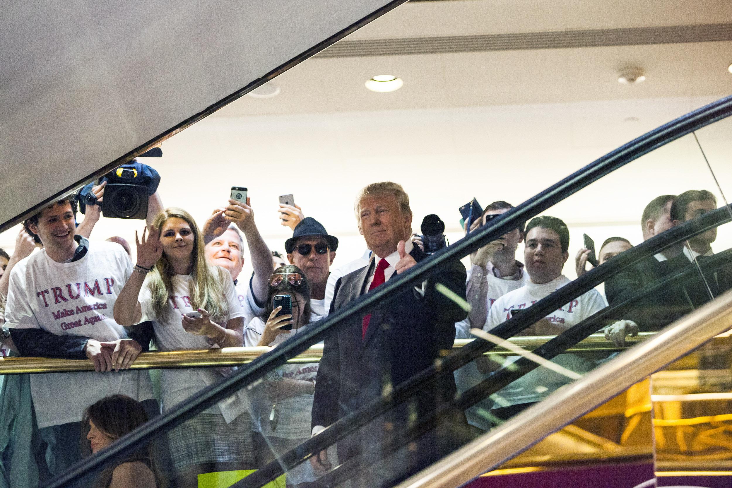 Donald Trump Makes Announcement At Trump Tower