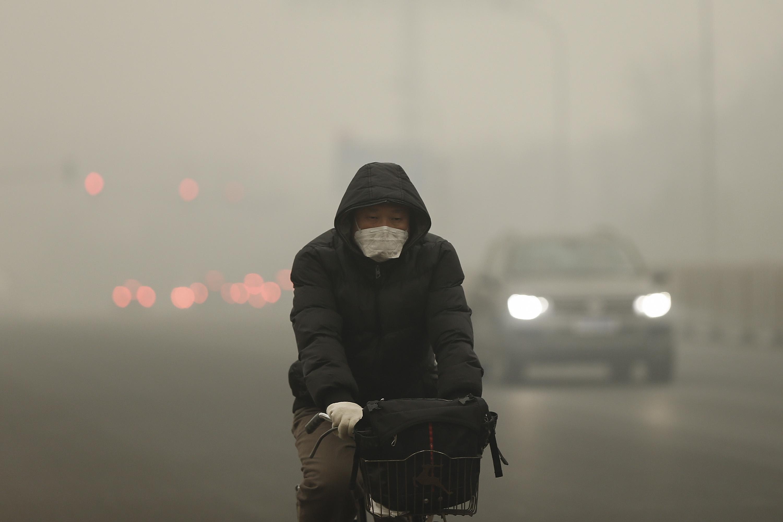 Beijing Blanketed In Heavy Smog
