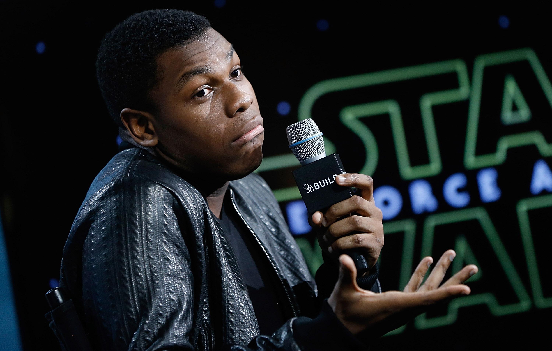 """John Boyega form""""Star Wars, The Force Awakens"""" speaks during AOL Build at AOL Studios In New York on December 3, 2015 in New York City. *** Local Caption *** John Boyega"""