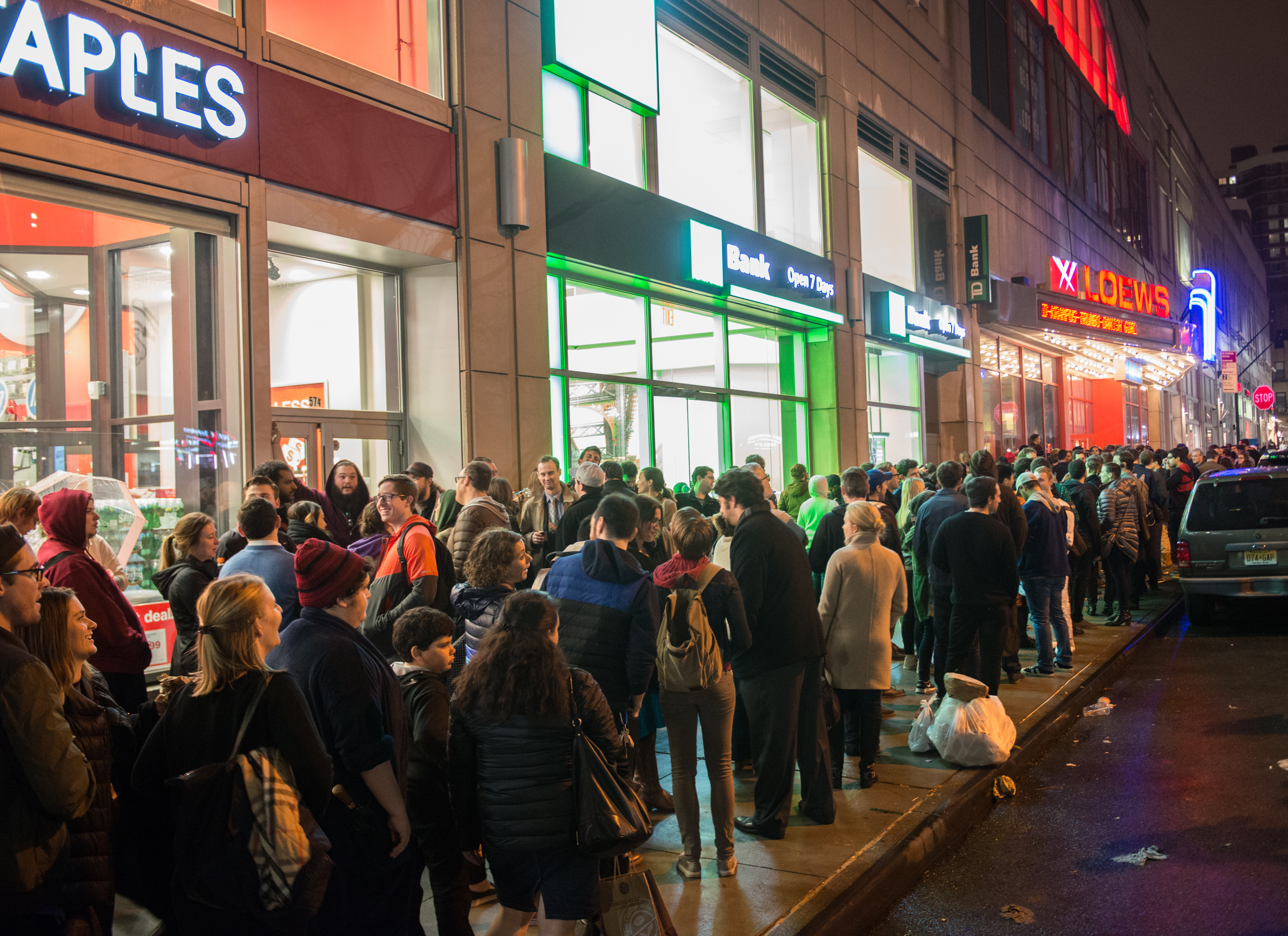 """Fans Line Up To Watch """"Star Wars: The Force Awakens"""" In New York City"""