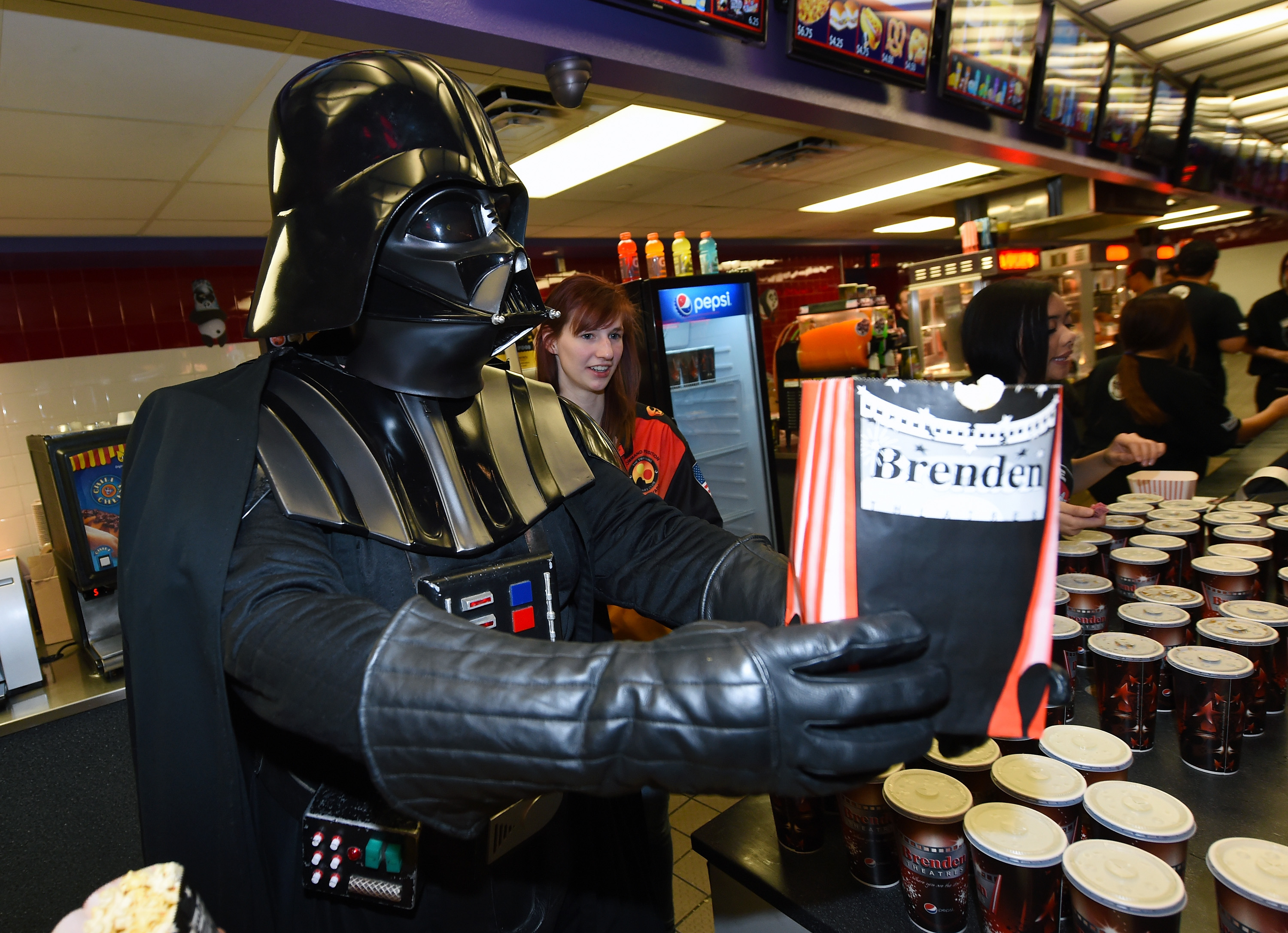 """Opening Night Of Walt Disney Pictures And Lucasfilm's """"Star Wars: The Force Awakens"""" At The Brenden Theatres"""