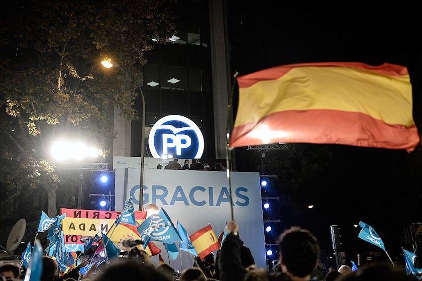 Mariano Rajoy's balcony speech in Madrid