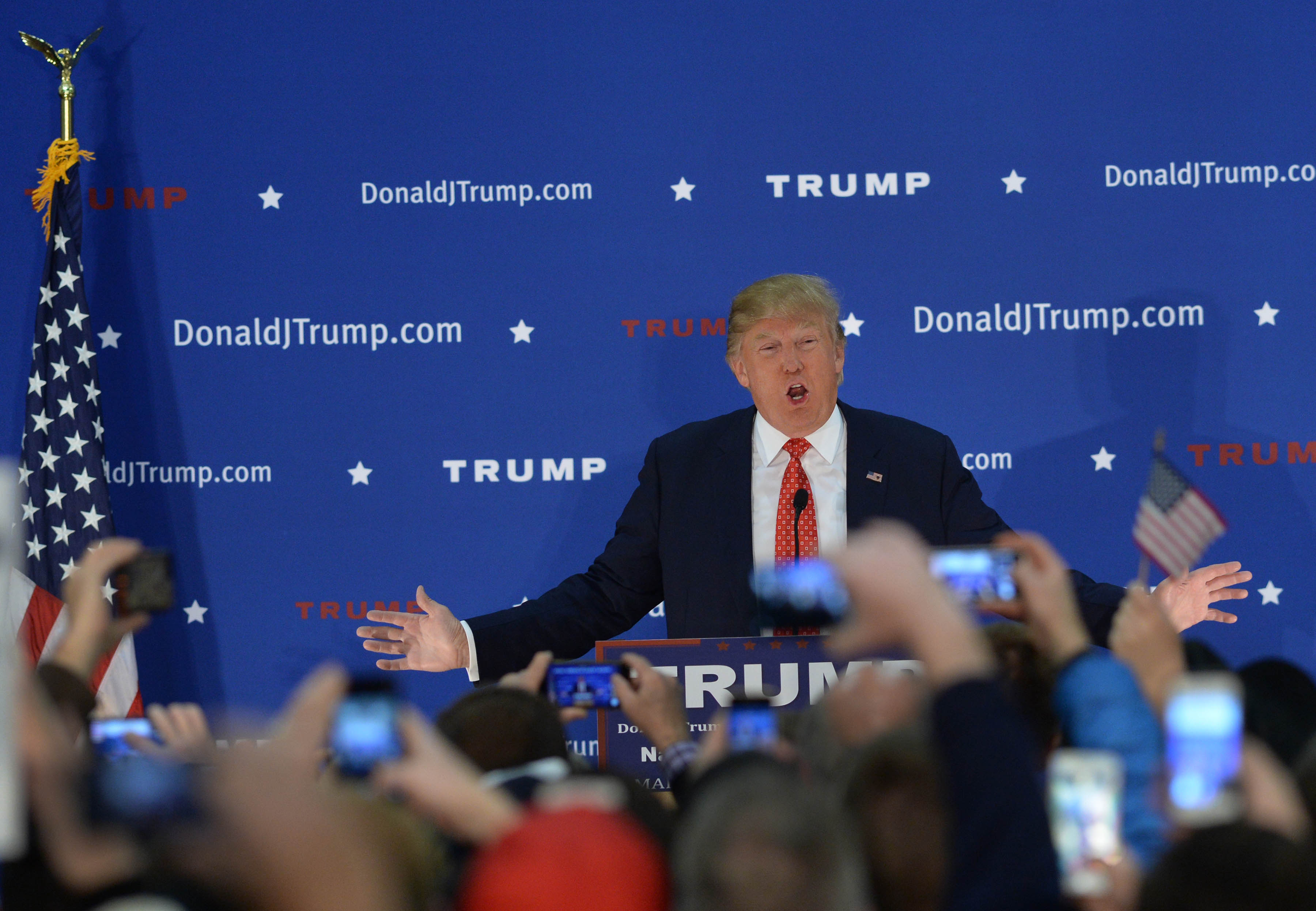 Republican Presidential Candidate Donald Trump Campaigns In Nashua, New Hampshire