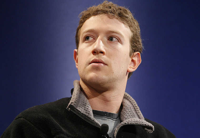 Mark Zuckerberg, founder of Facebook, participates in a disc