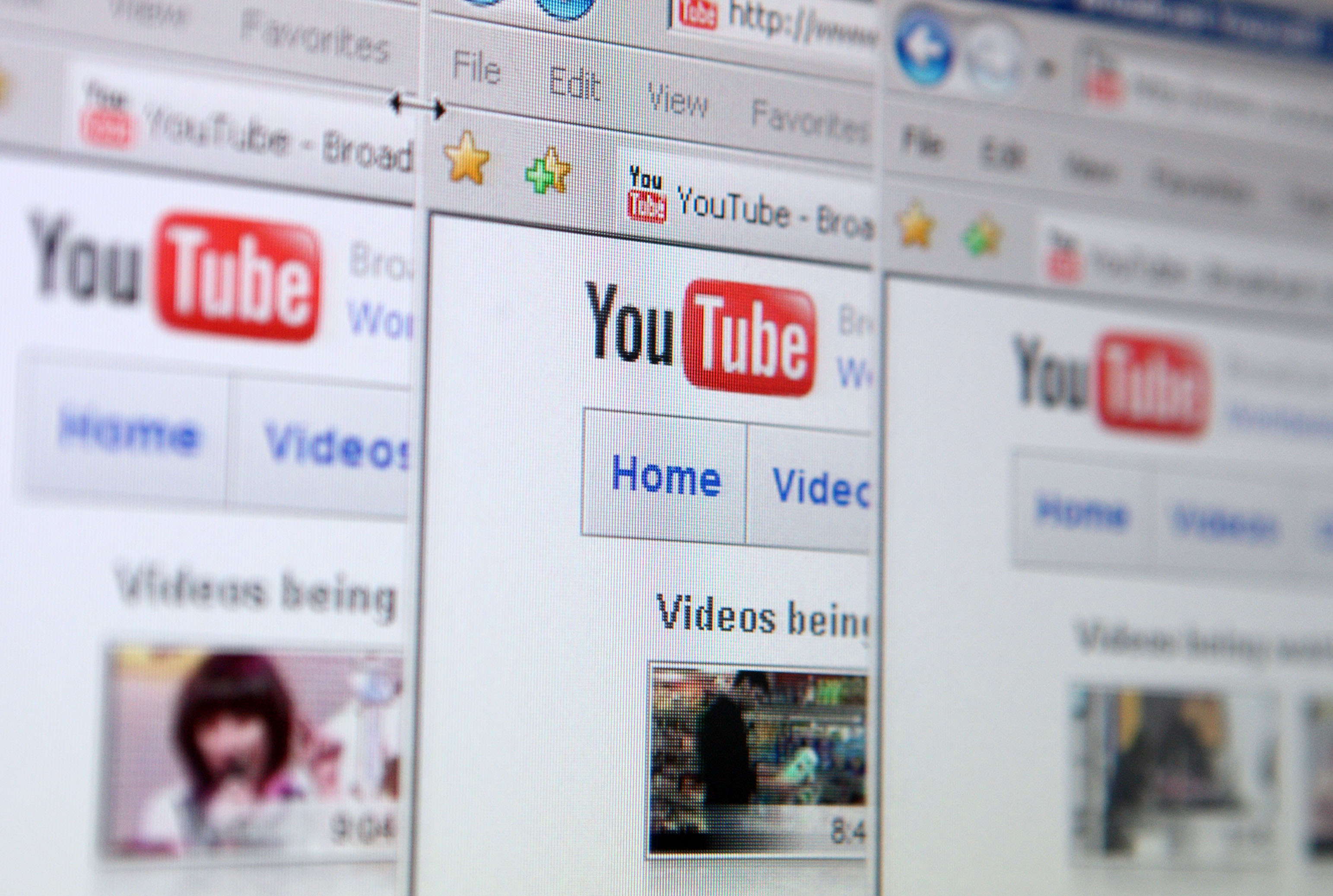 Google Inc.'s YouTube video-sharing Web site is displayed on