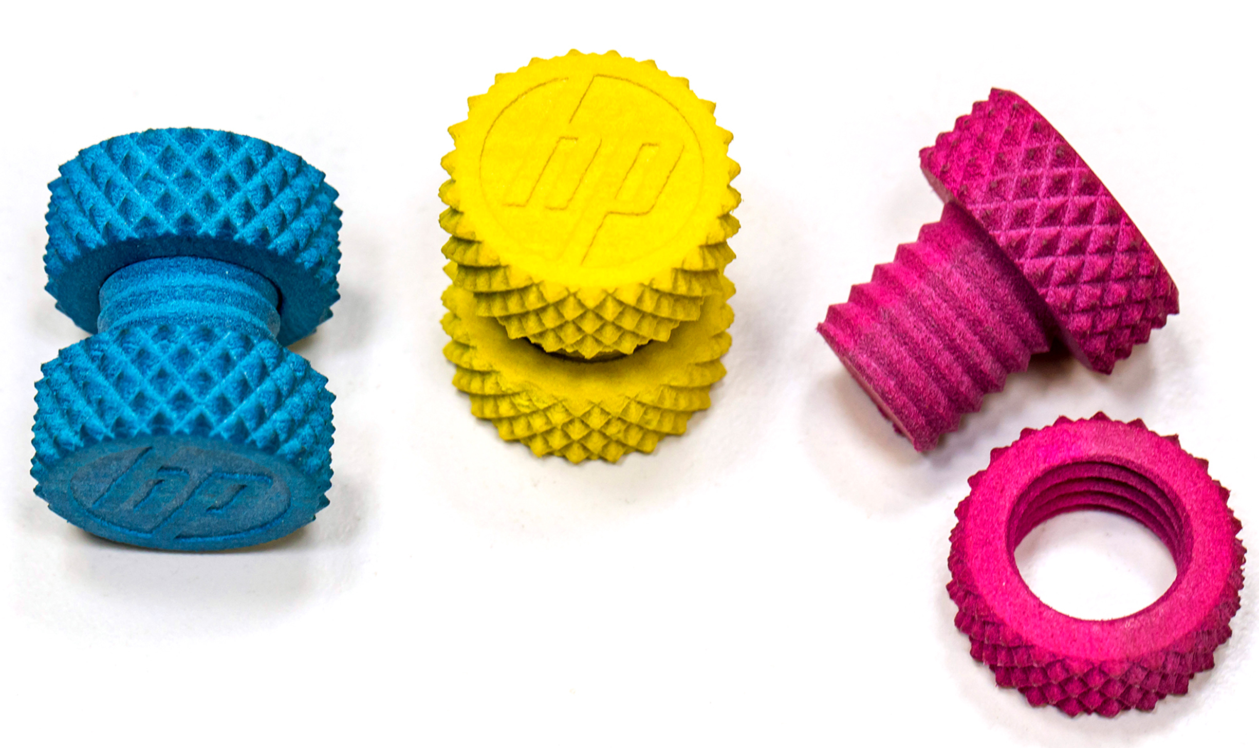 Samples from HP's forthcoming multi-jet 3-D printers