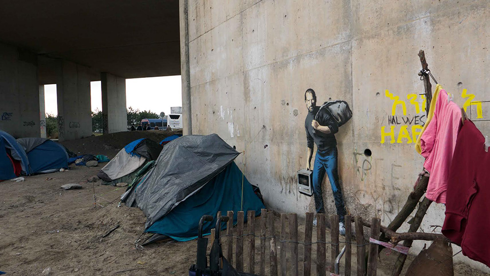 The Jungle refugee camp in Calais, France.