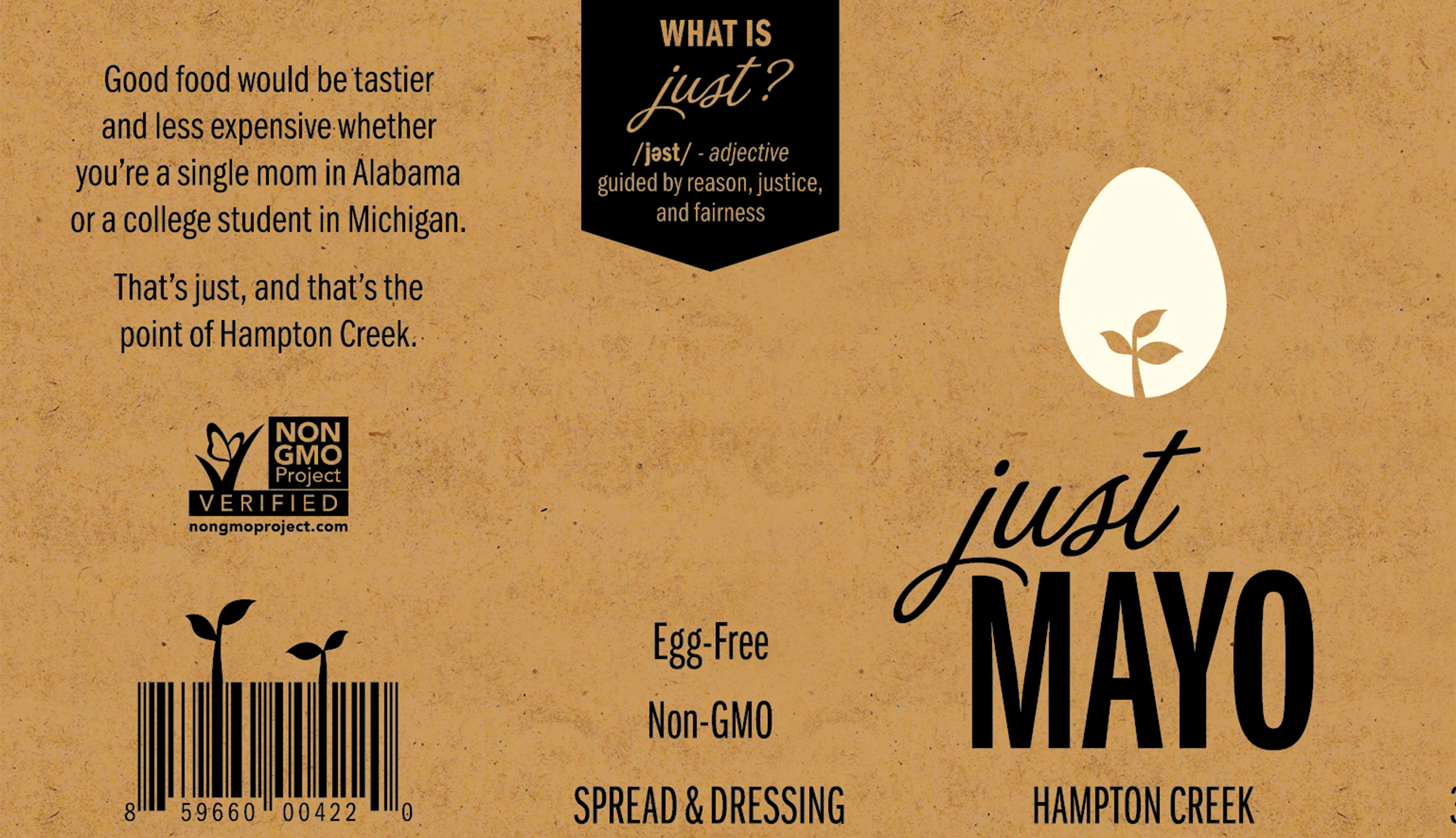 "Hampton Creek ""Just Mayo"" label"