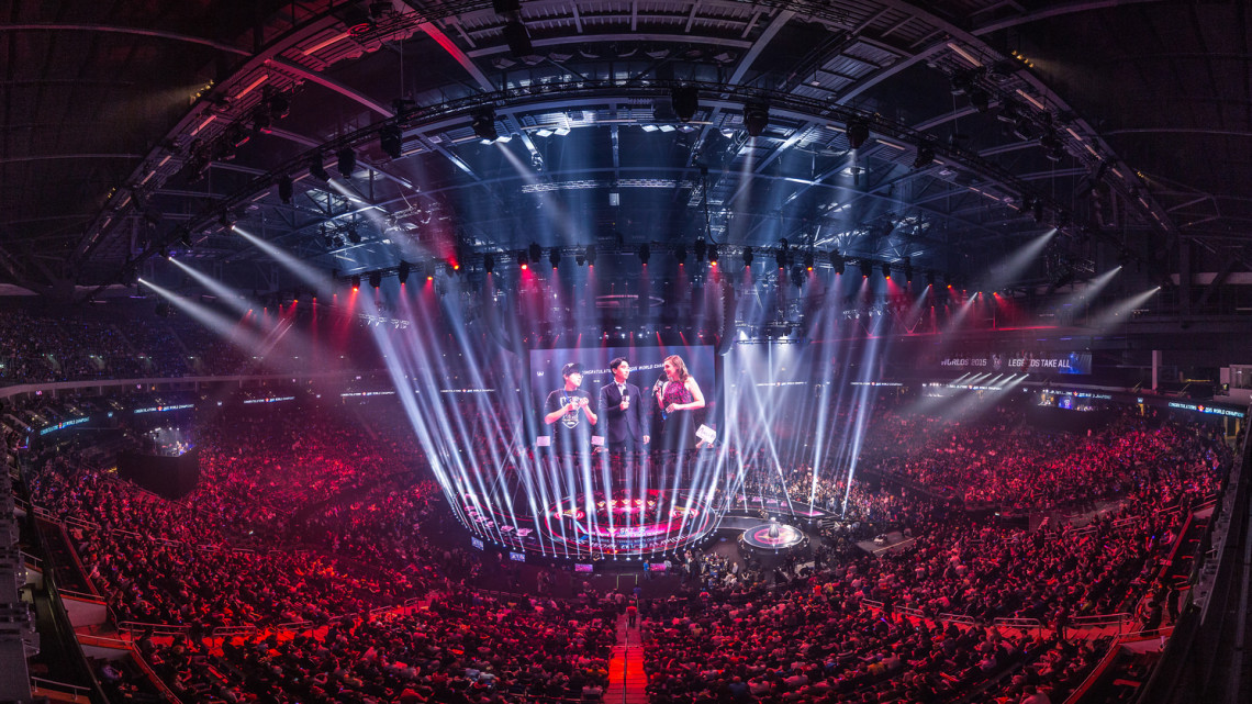 "Riot Games sold out Mercedes-Benz Arena in Berlin for the 2015 ""League of Legends"" World Championship."