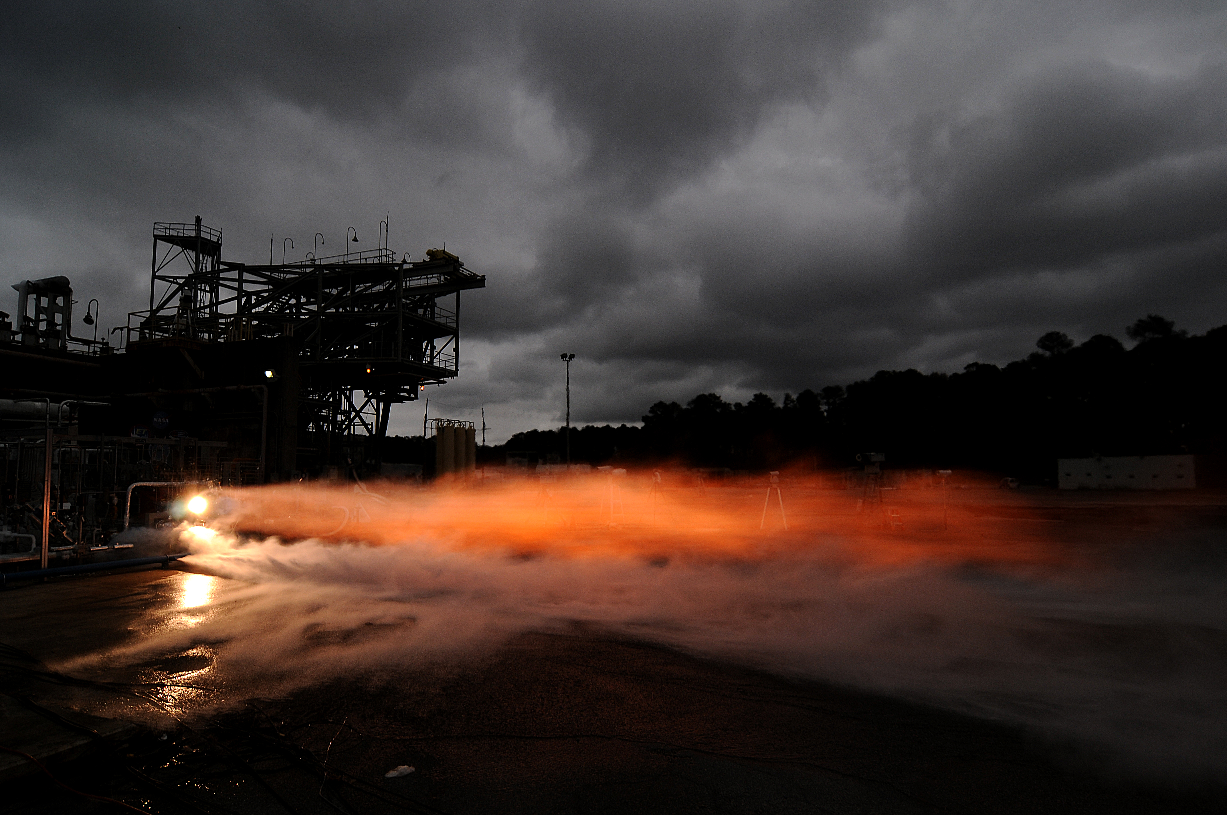 During a series of test firings at NASA's Marshall Space Flight Center in Huntsville, Alabama, 3-D printed rocket engine parts worked together successful under the same conditions experience inside rocket engines used in space. The turbopump was tested at full power, pumping 1,200 gallons of liquid hydrogen per minute and the injector produced 20,0000 pounds of thrust.