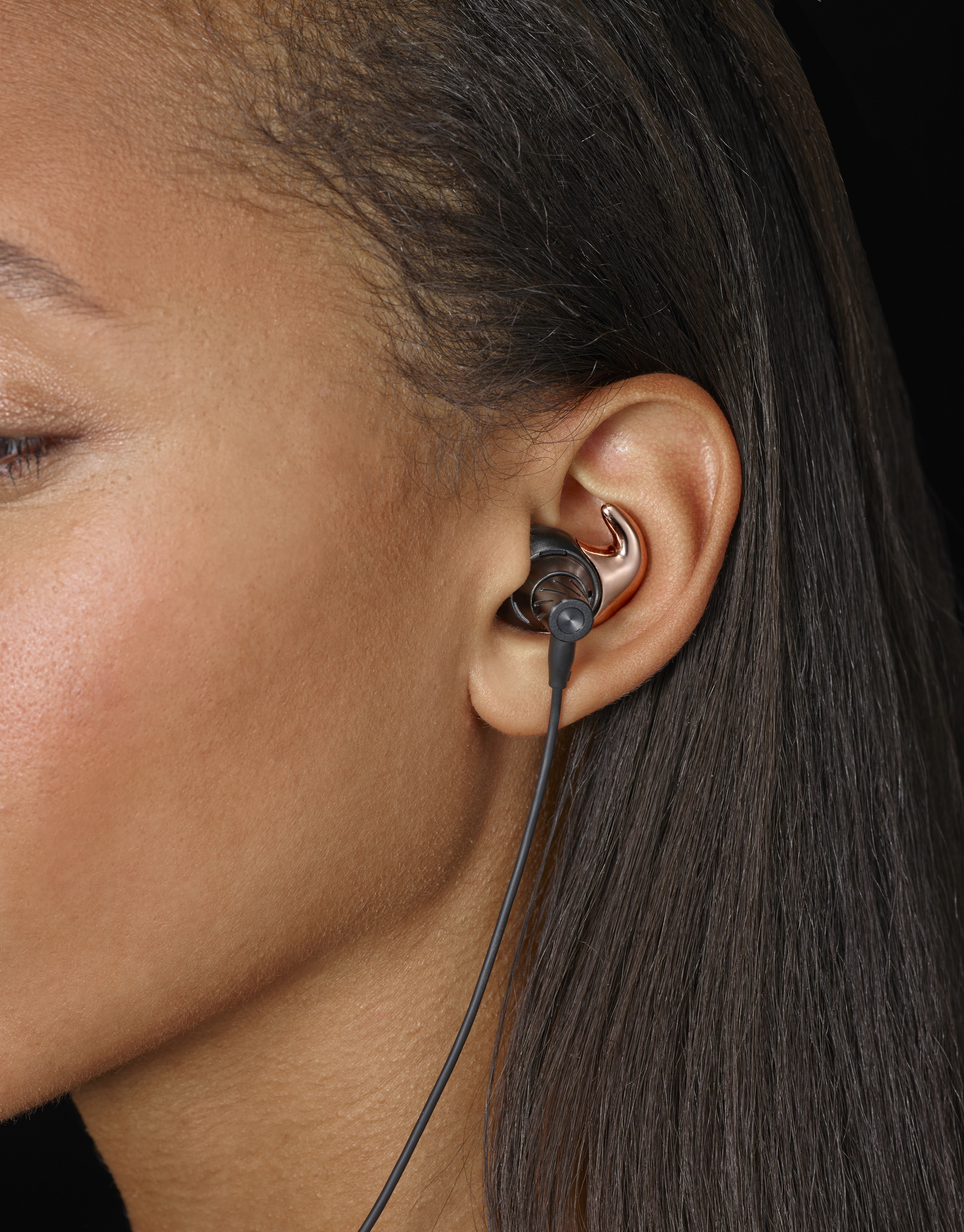 Normal Earphones partnered with Rebecca Minkoff to make a line of earphones plated with 14-carat rose gold.