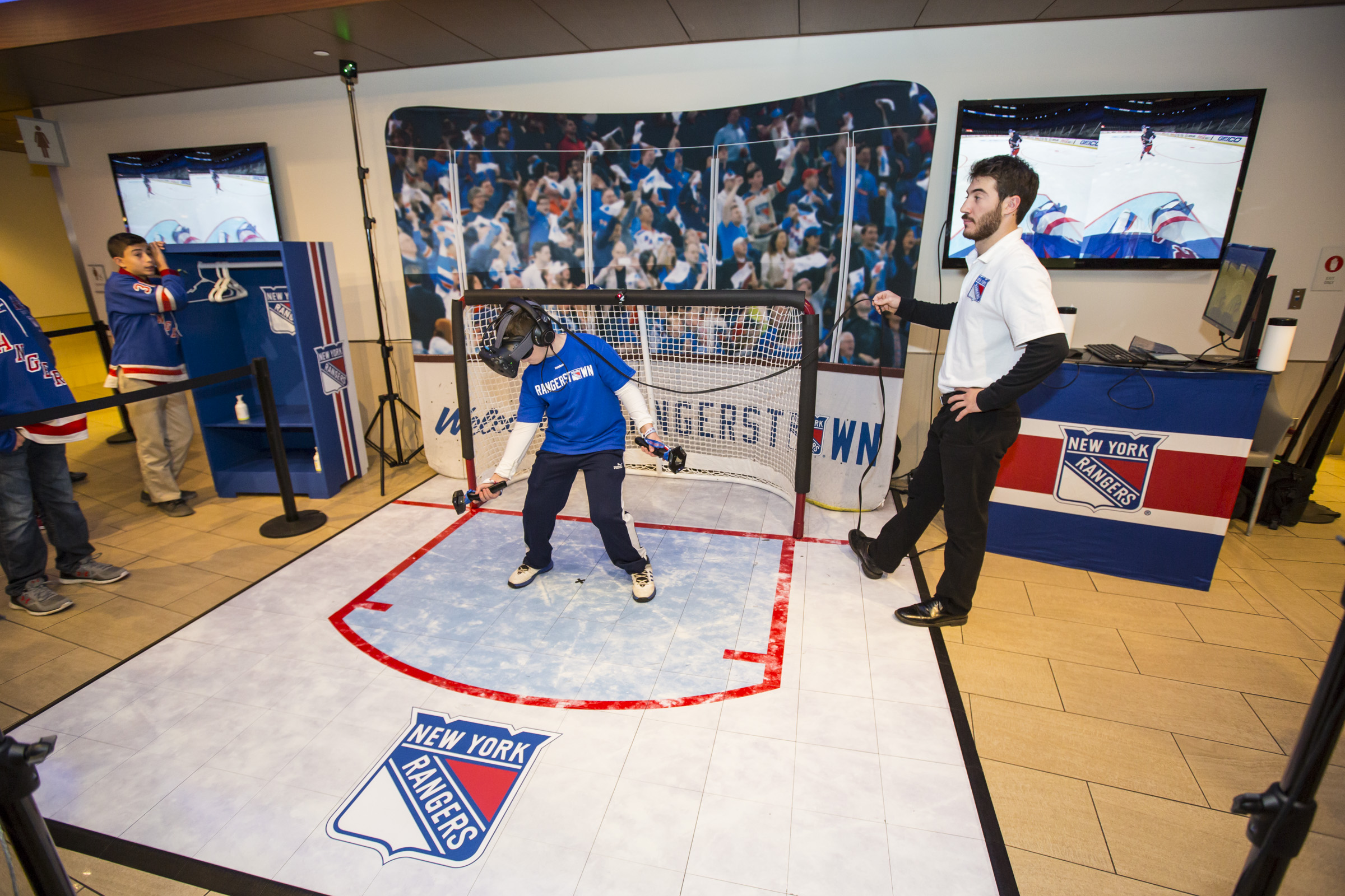 StriVR puts Rangers fans between the virtual pipes at Madison Square Garden.