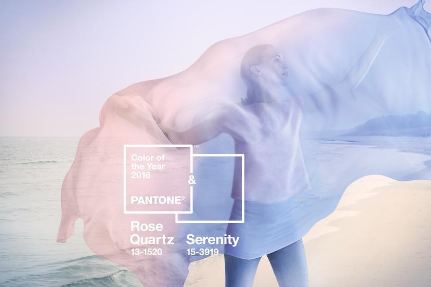 For 2016: Rose Quartz and Serenity