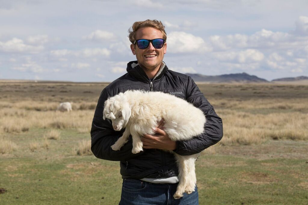 Matthew Scanlan, CEO and co-founder of Naadam Cashmere, travels to Mongolia to work with nomadic Mongolian herders.