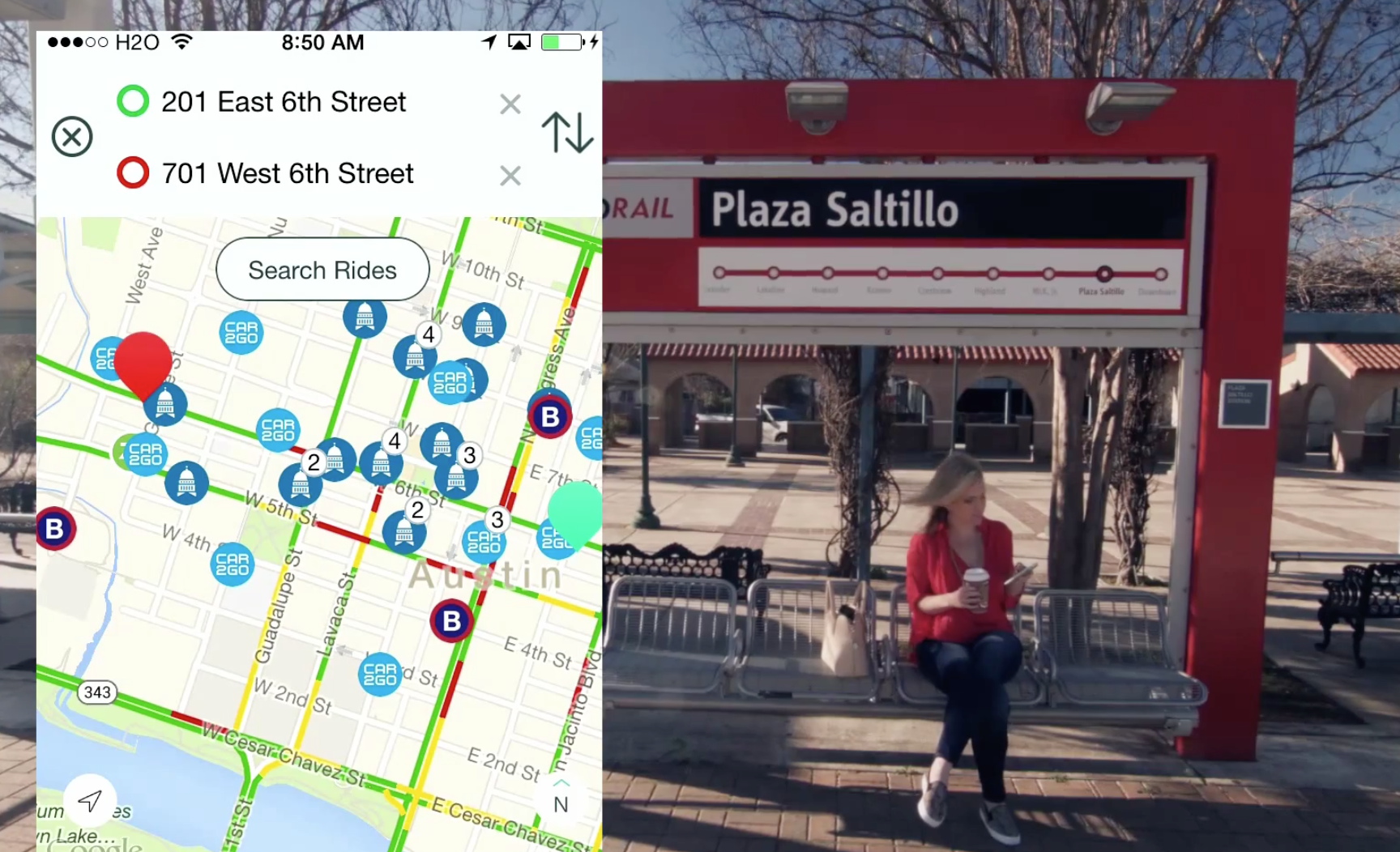 RideScout provides real-time transit data for riders.