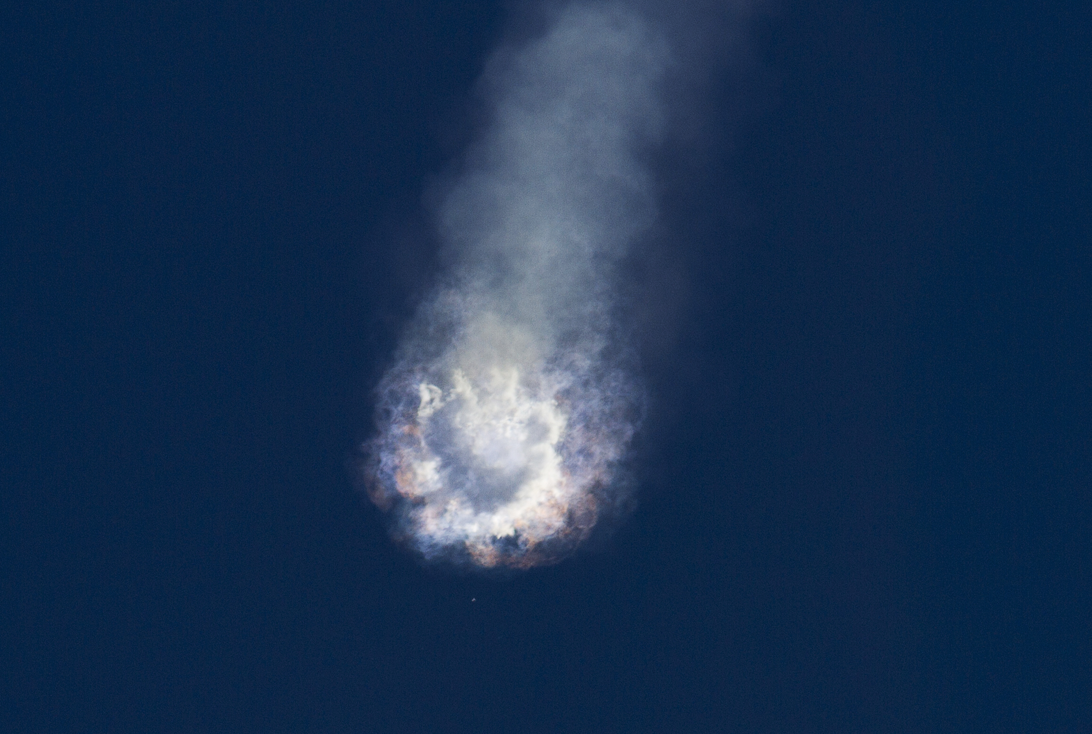 An unmanned SpaceX Falcon 9 rocket explodes after liftoff from Cape Canaveral