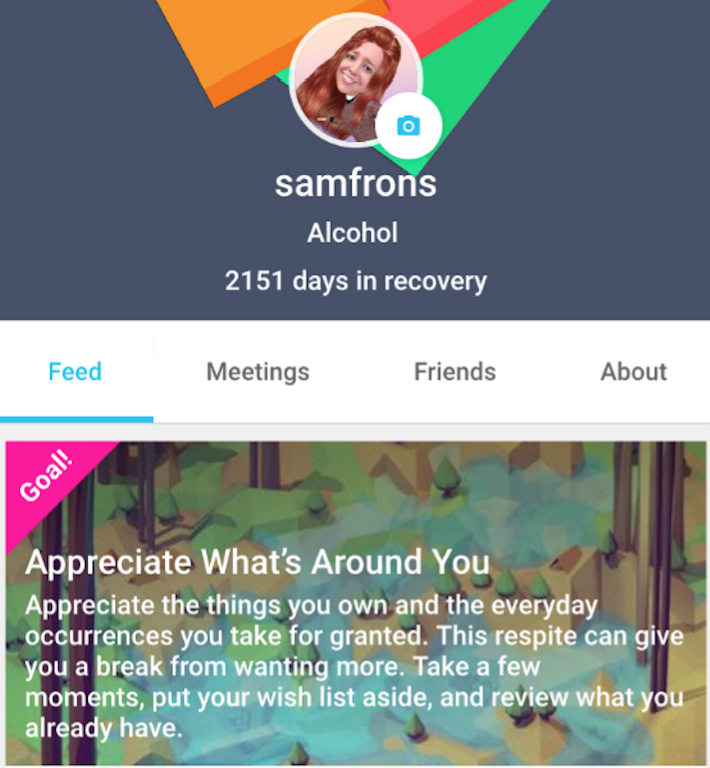 The new app helps addicts find meetings and chat with peers without the traditional 12-step mold.