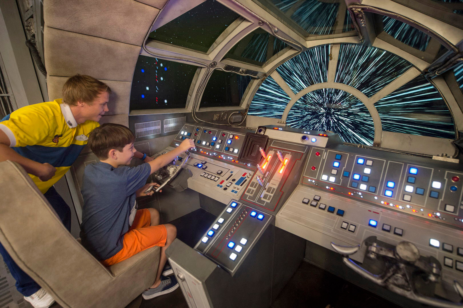 Disney Dream is the only place in the world where kids can pilot the Millennium Falcon.