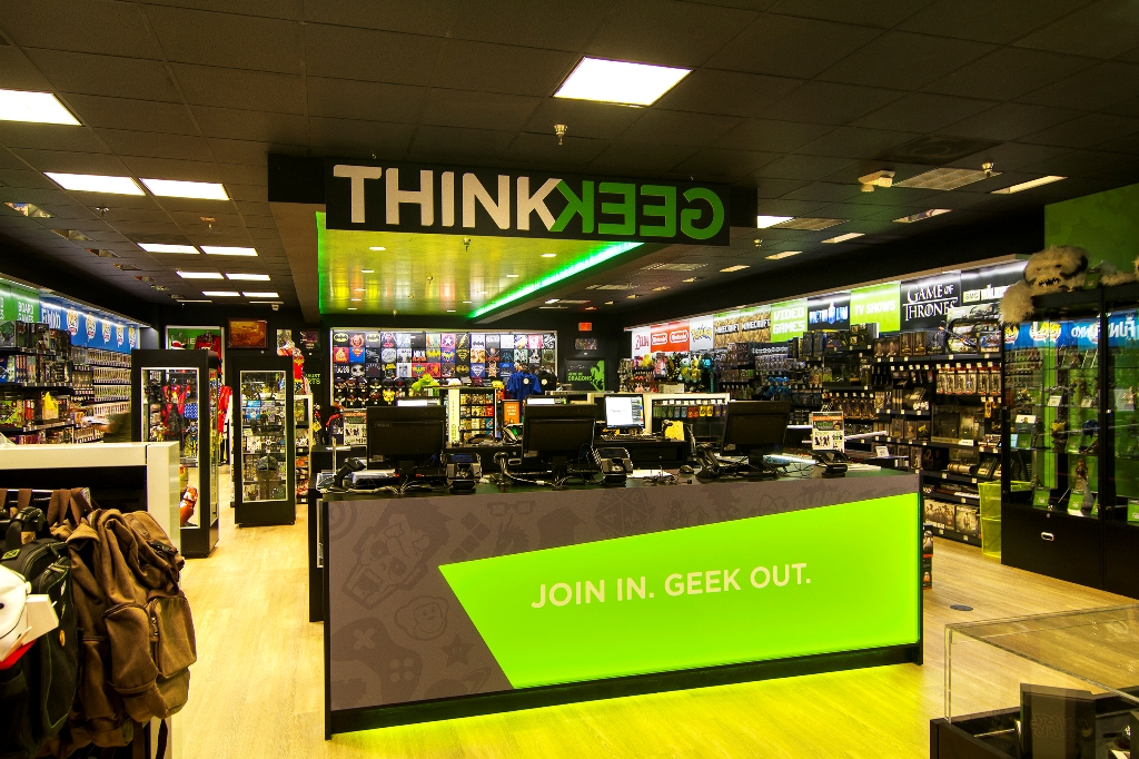 GameStop acquired ThinkGeek for its online business and has opened several retail stores.